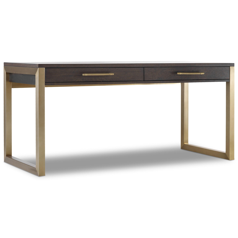Curata Short Modern Wooden Writing Desk by Hooker Furniture at Stoney Creek Furniture