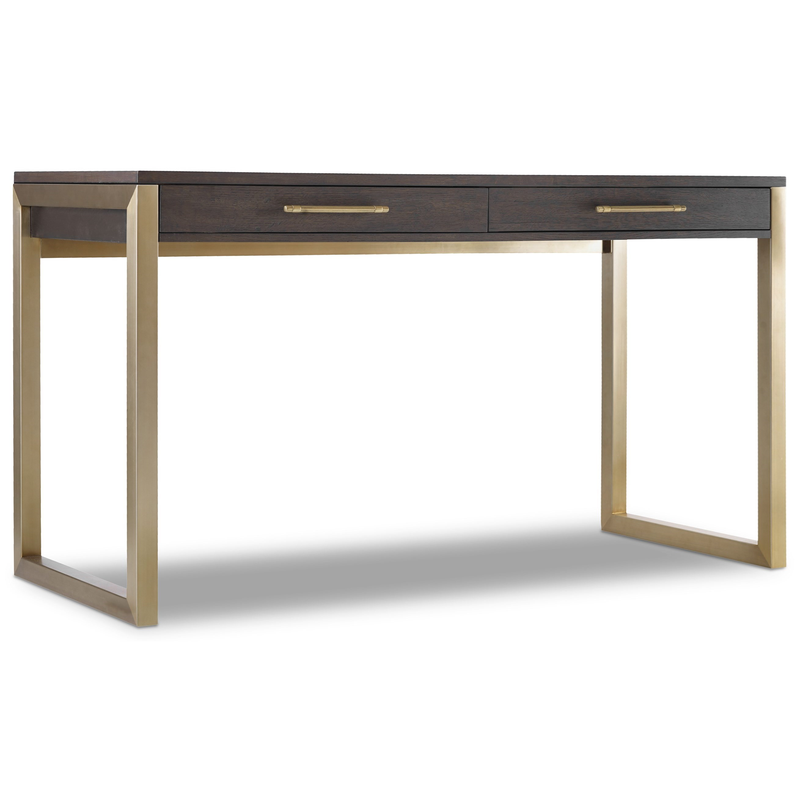 Curata Tall Modern Wooden Writing Desk by Hooker Furniture at Miller Waldrop Furniture and Decor