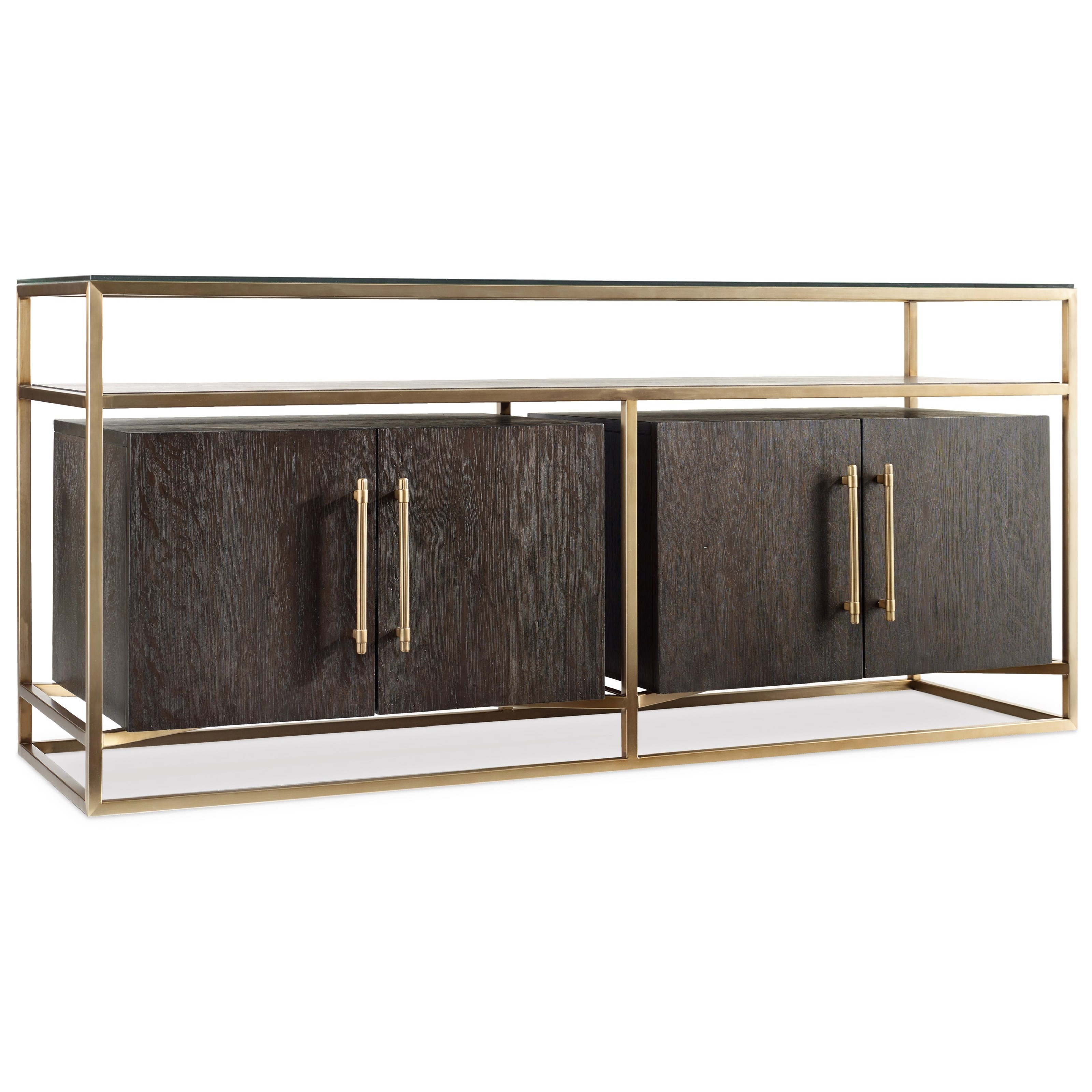 Curata Modern Entertainment Console by Hooker Furniture at Stoney Creek Furniture