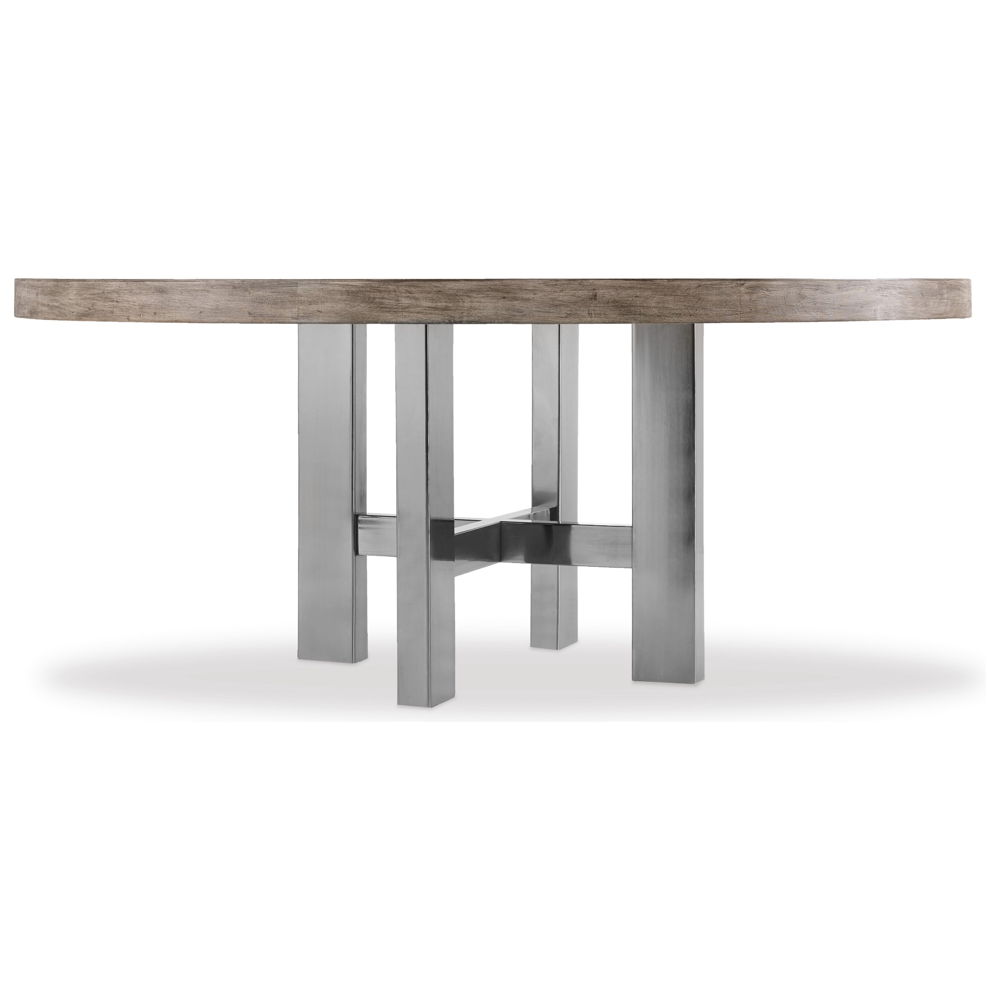 Curata Large Modern Round Dining Table by Hooker Furniture at Stoney Creek Furniture