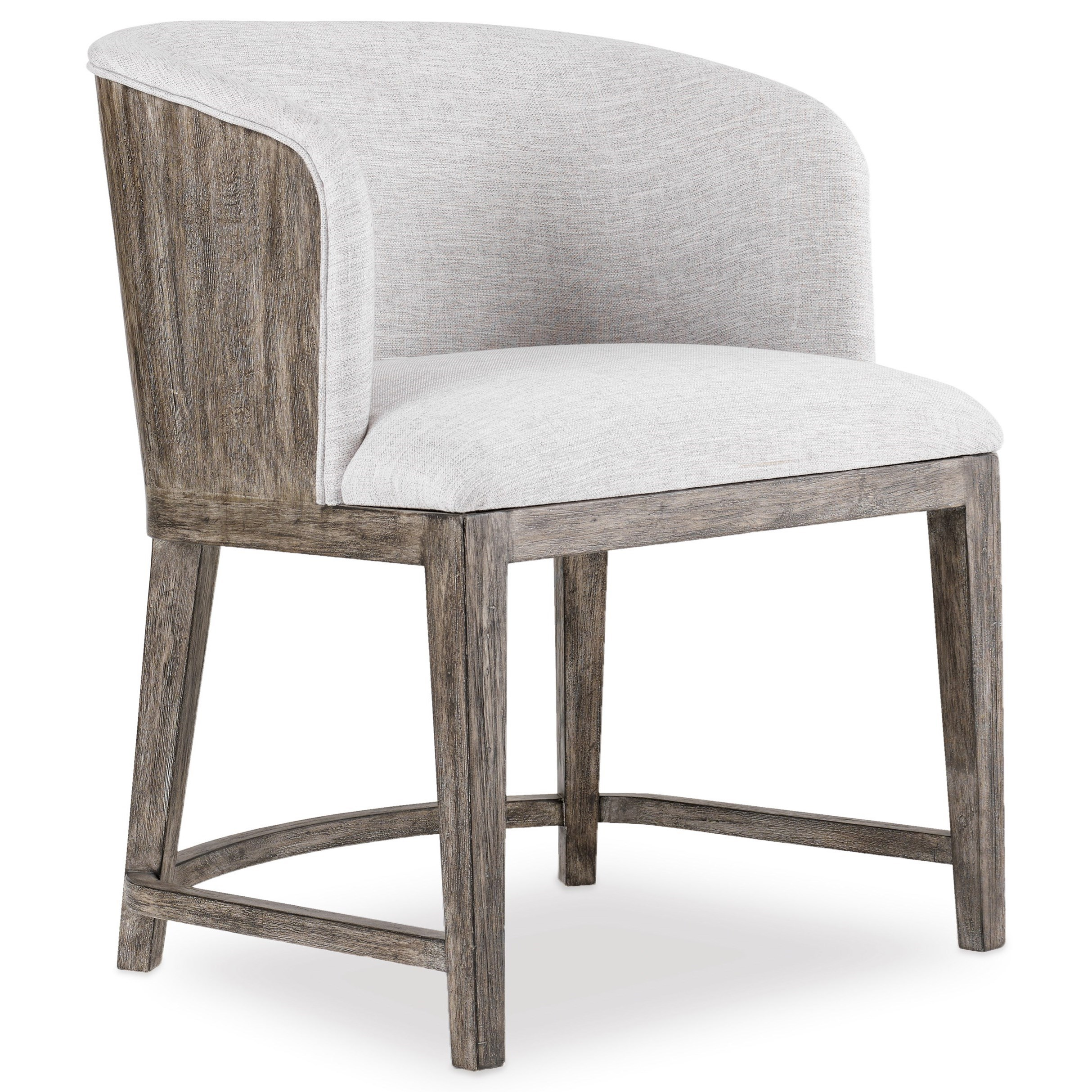 Curata Upholstered Chair with Wood Back by Hooker Furniture at Miller Waldrop Furniture and Decor
