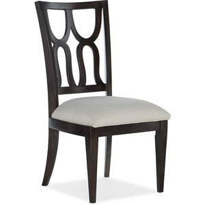 Glam Upholstered Side Chair