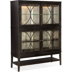 Glam Display Cabinet with Built-In Lighting