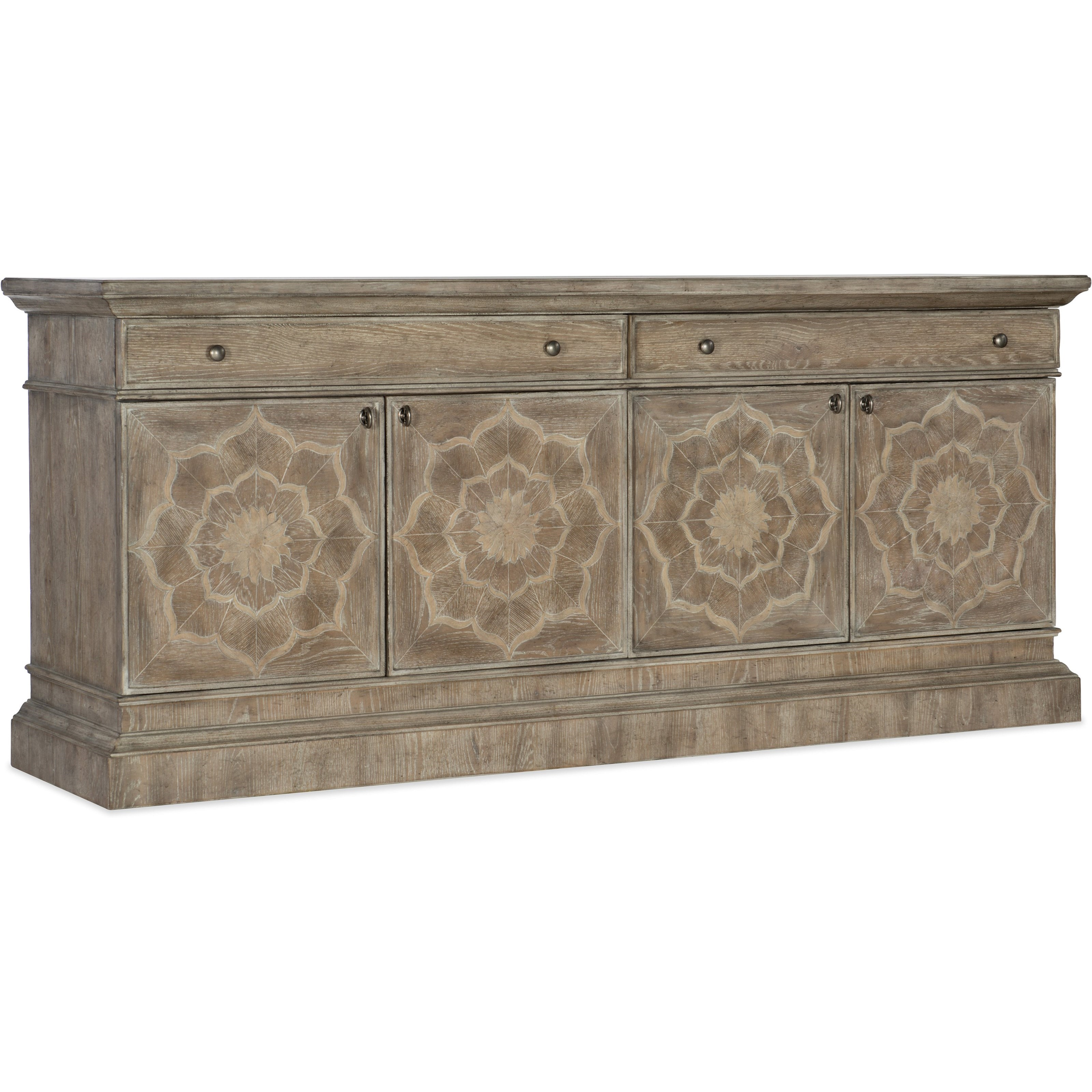 Dahlia Entertainment Console by Hooker Furniture at Miller Waldrop Furniture and Decor