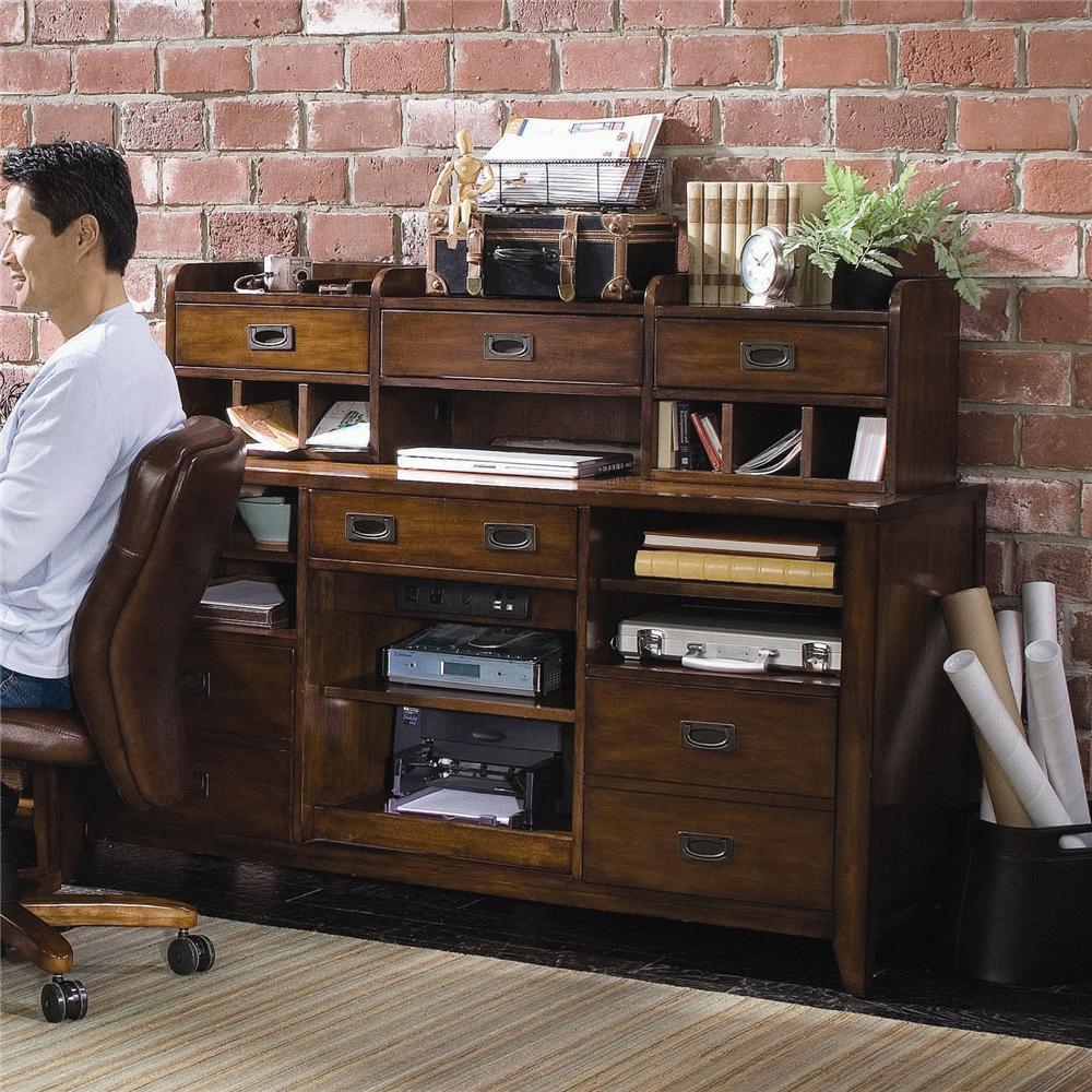 Danforth Open Credenza by Hooker Furniture at Baer's Furniture