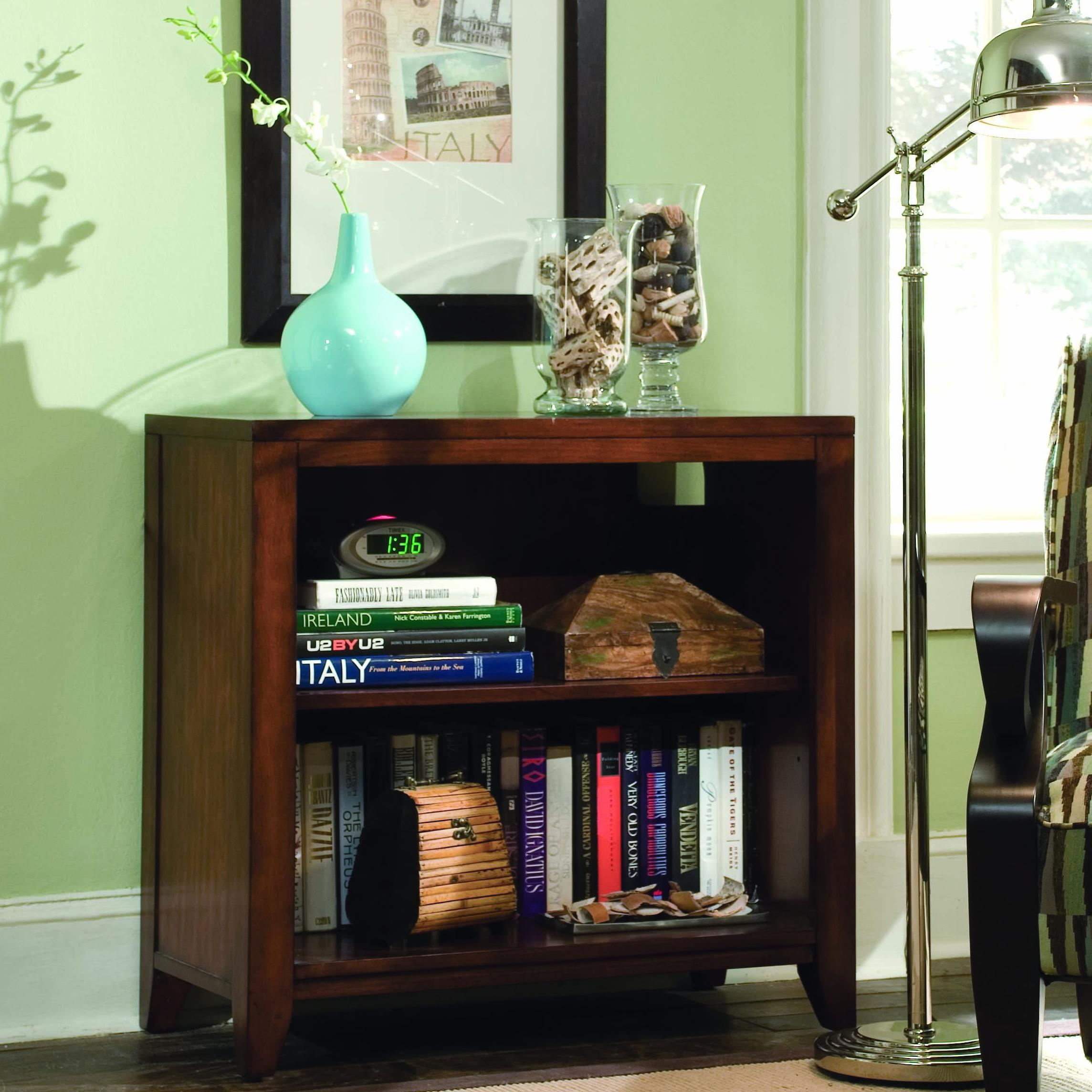 Danforth Low Bookcase by Hooker Furniture at Miller Waldrop Furniture and Decor