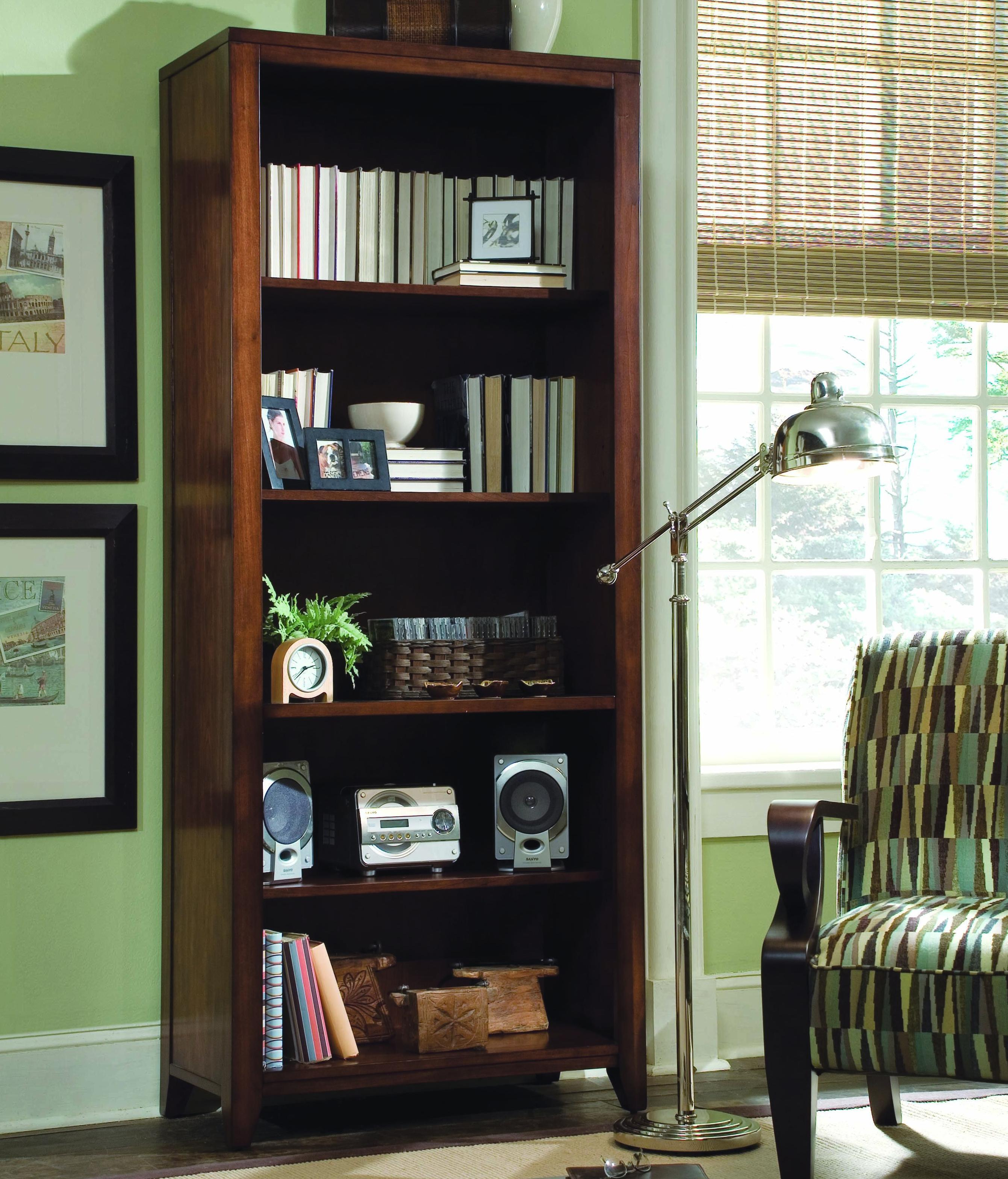 Danforth Tall Bookcase by Hooker Furniture at Miller Waldrop Furniture and Decor