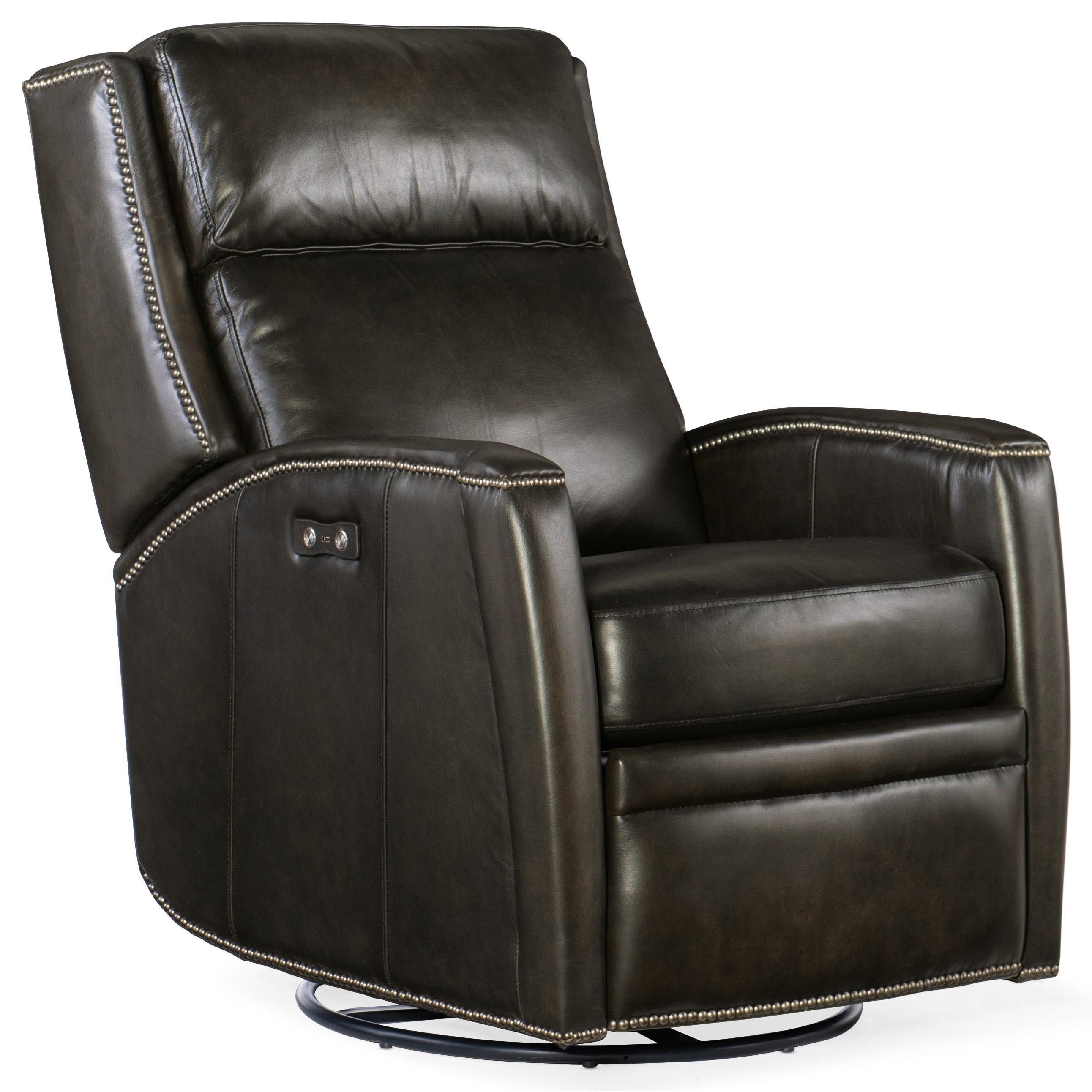 Declan Power Swivel Glider Recliner by Hooker Furniture at Miller Waldrop Furniture and Decor