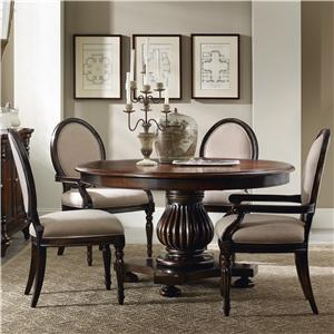 Hooker Furniture Eastridge Round Pedestal Dining Table Set
