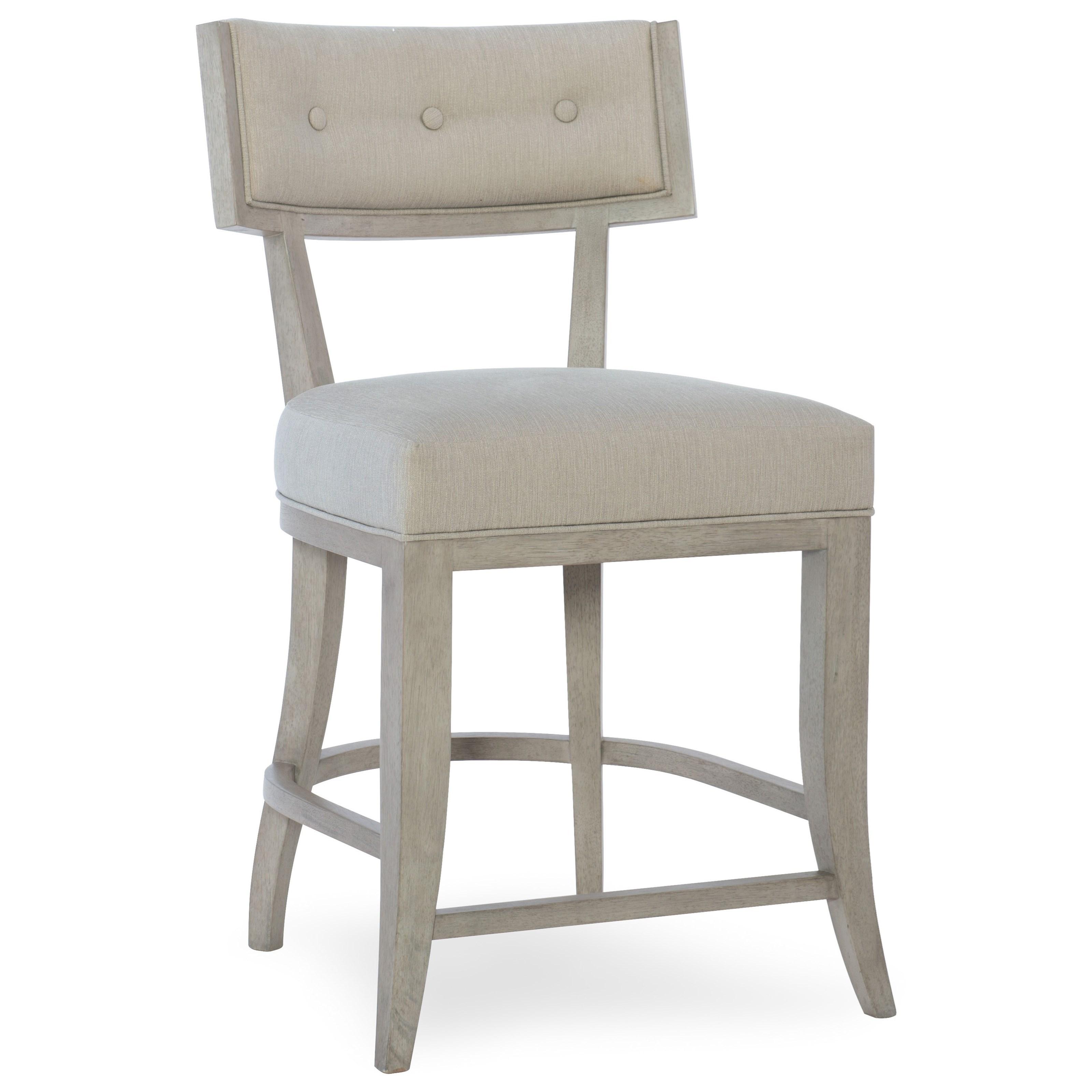 Elixir Klismos Counter Stool by Hooker Furniture at Miller Waldrop Furniture and Decor