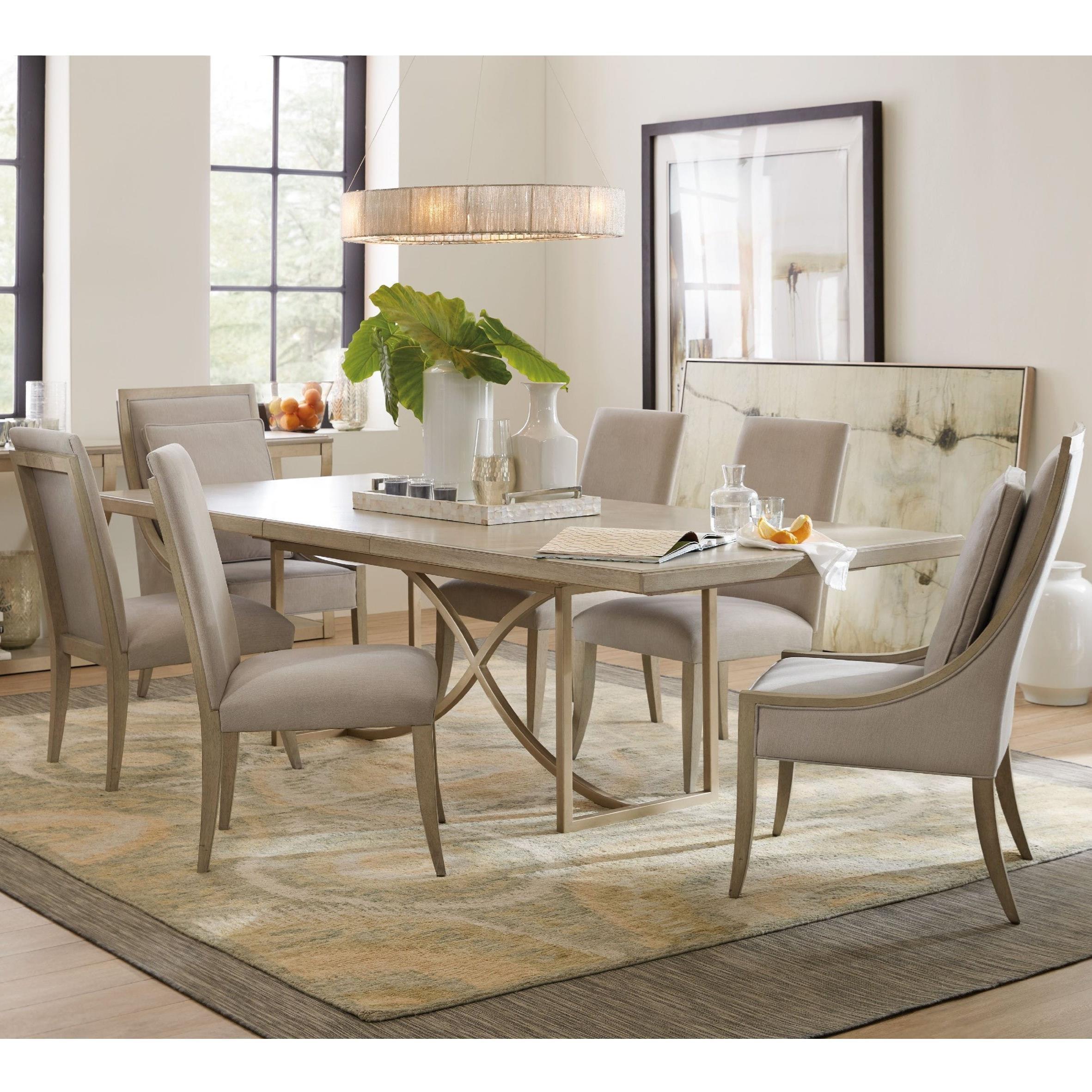Elixir 7 Piece Dining Set by Hooker Furniture at Miller Waldrop Furniture and Decor