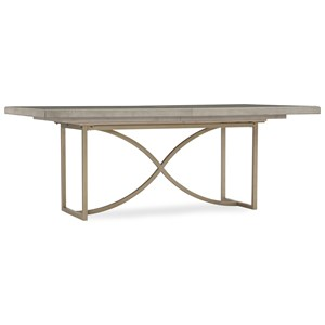 80in Rectangular Dining Table with Metal Base