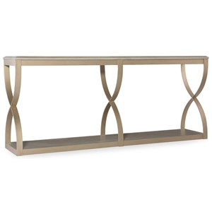 Console Table with Metal Frame
