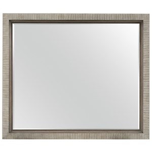 Rectangular Mirror with Carved Frame