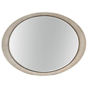 Oval Accent Mirror with Carved Frame