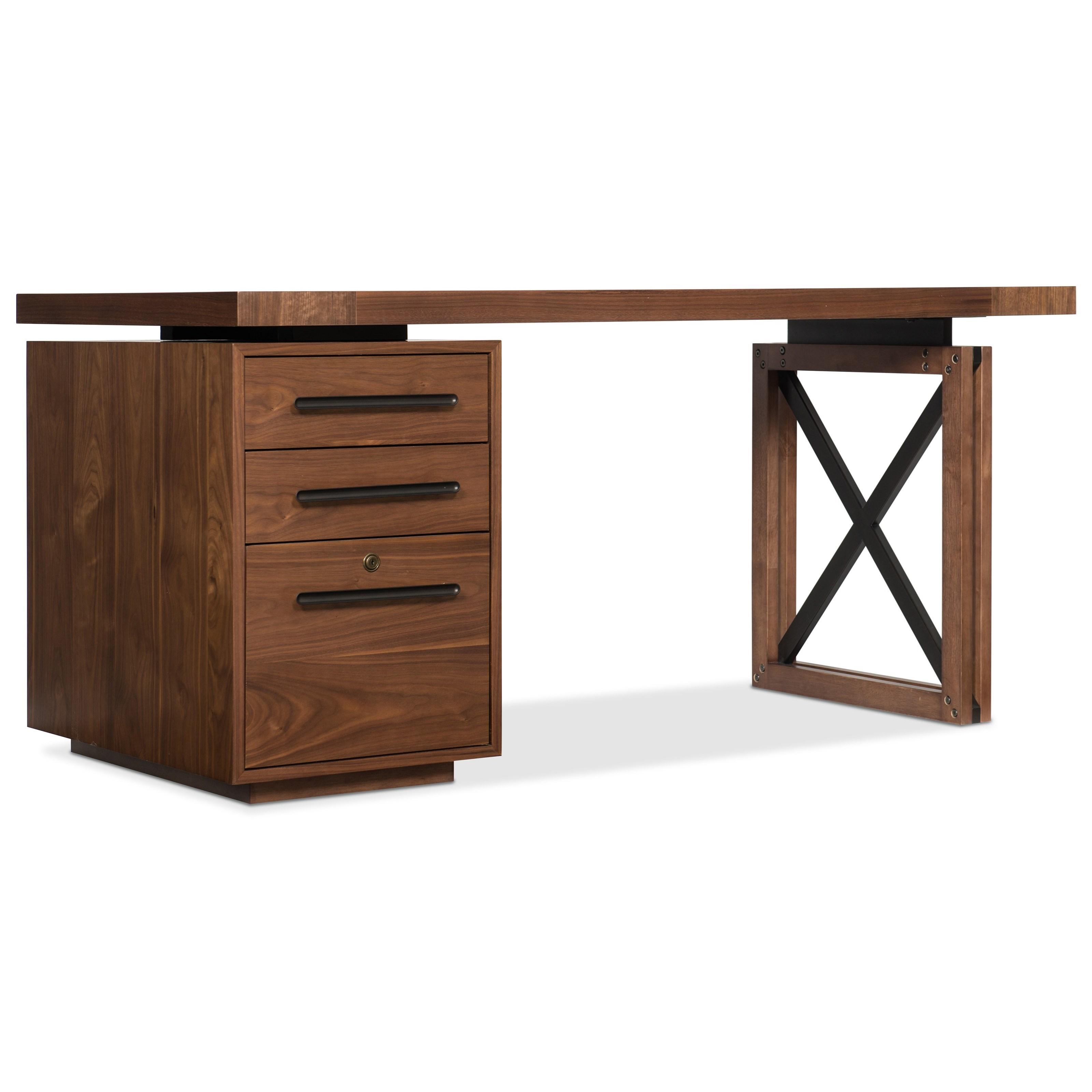 Elon Single Pedestal Desk by Hooker Furniture at Miller Waldrop Furniture and Decor