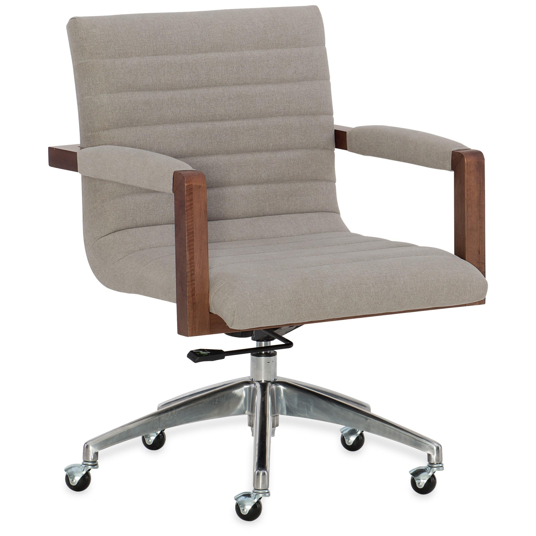Elon Swivel Desk Chair by Hooker Furniture at Stoney Creek Furniture