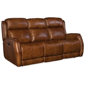 Power Sofa with Power Headrest and Nailhead Trim