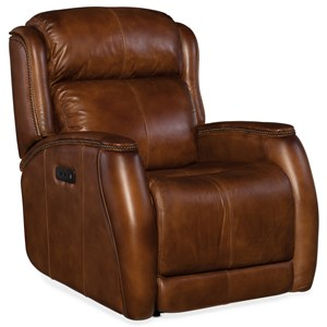 Power Recliner with Power Headrest and Nailhead Trim