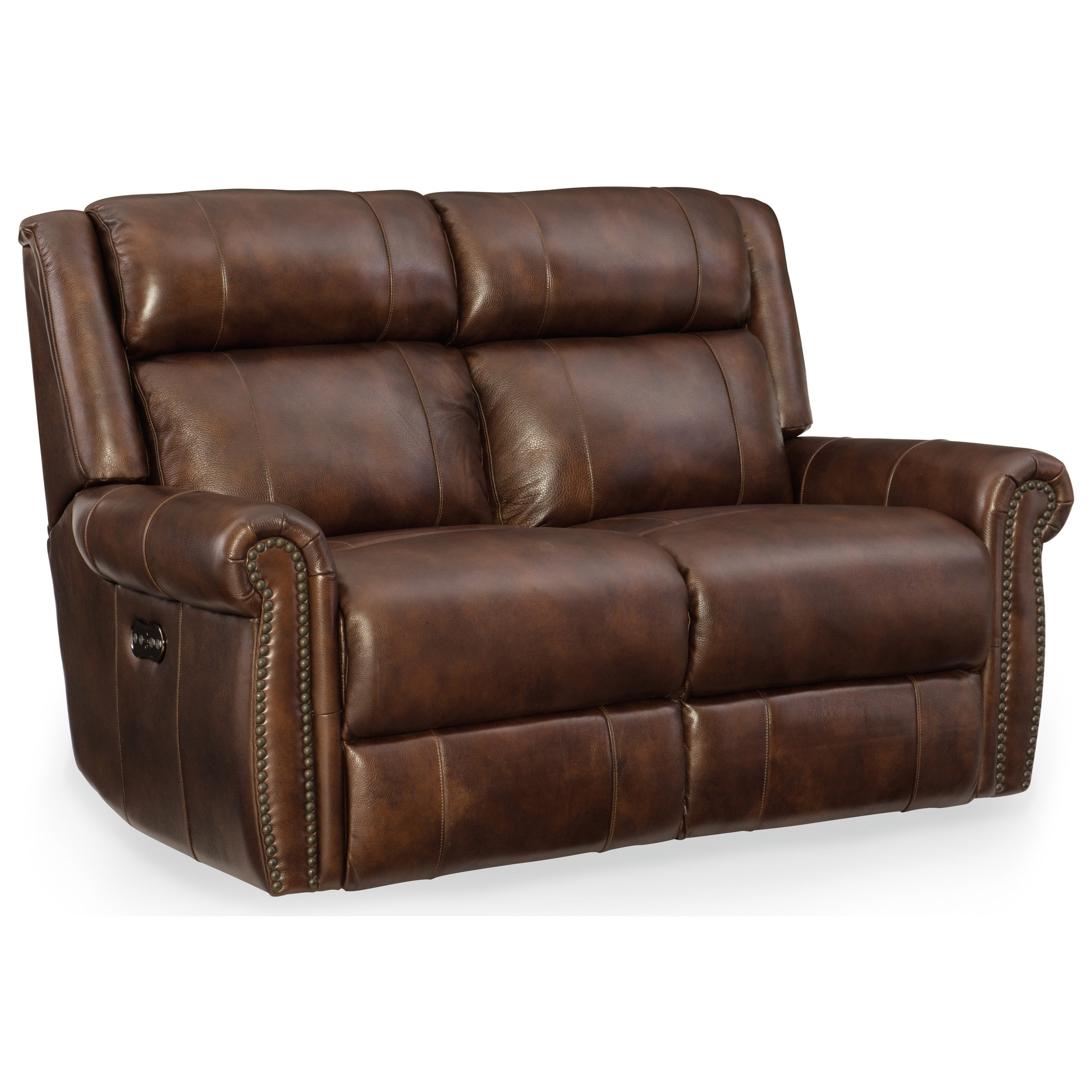 Esme Power Motion Loveseat with Power Headrest by Hooker Furniture at Miller Waldrop Furniture and Decor