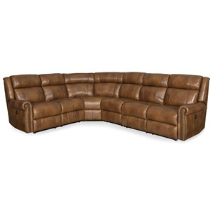 Power Reclining Sectional with Rolled Arms