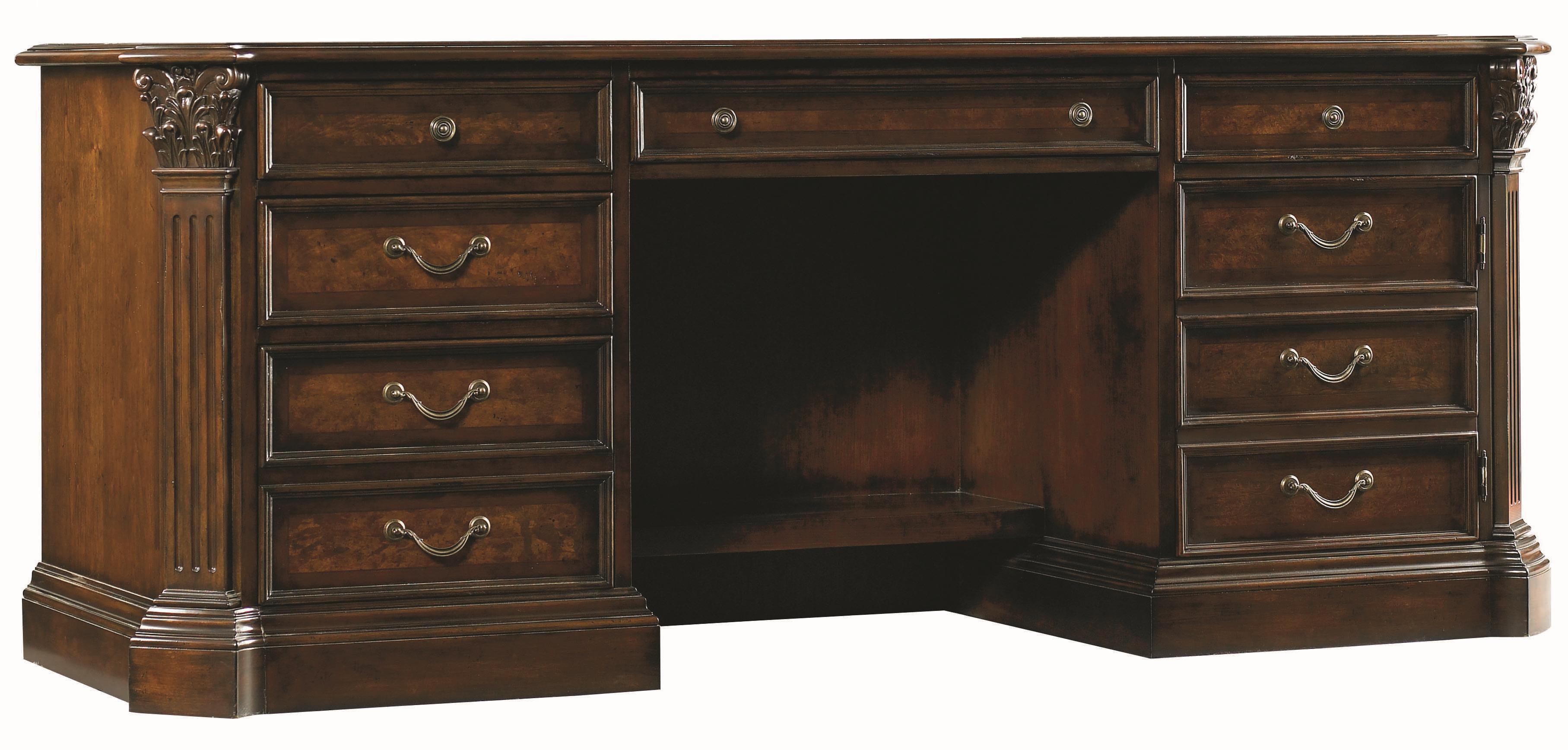 European Renaissance II Computer Credenza by Hooker Furniture at Baer's Furniture