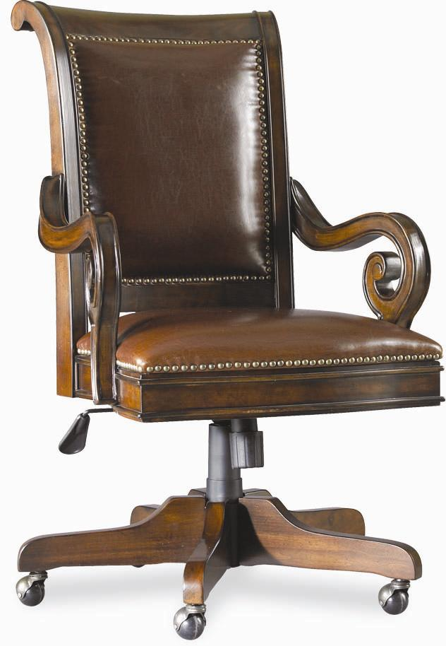 European Renaissance II Tilt Swivel Chair by Hooker Furniture at Miller Waldrop Furniture and Decor