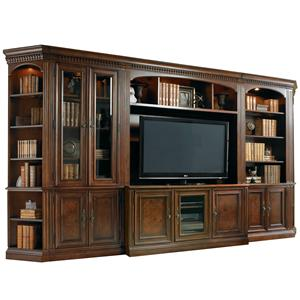 Six-Piece Entertainment Library Wall