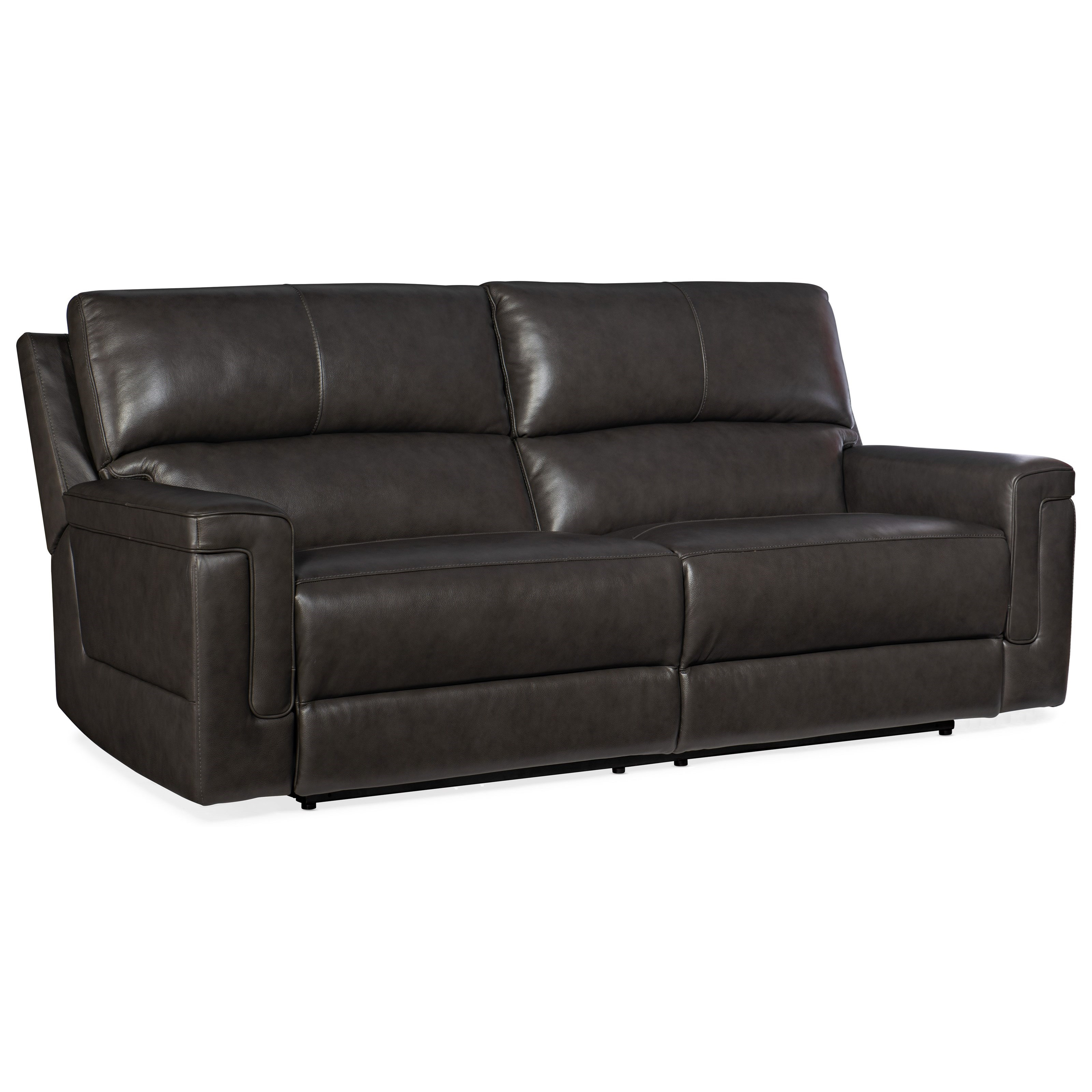 Gable Power Reclining Leather Sofa by Hooker Furniture at Baer's Furniture