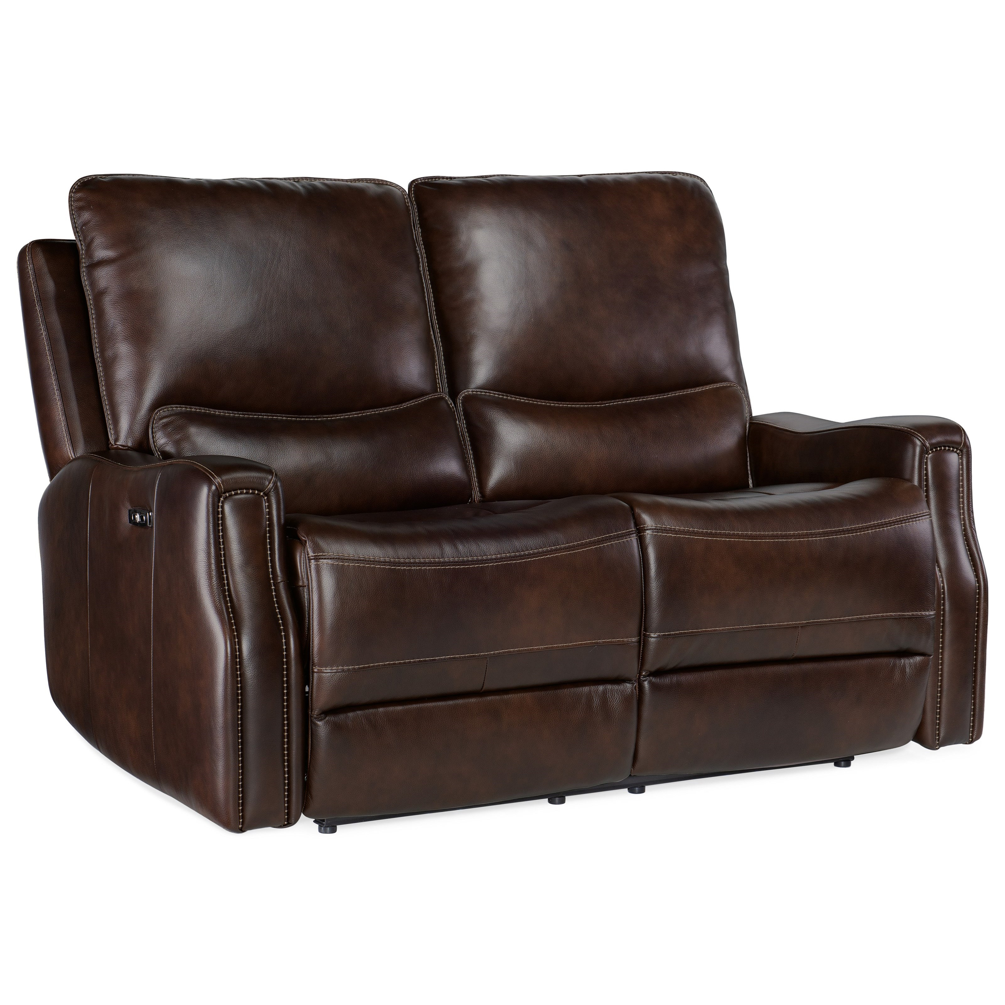 Gage Power Recline Loveseat by Hooker Furniture at Miller Waldrop Furniture and Decor