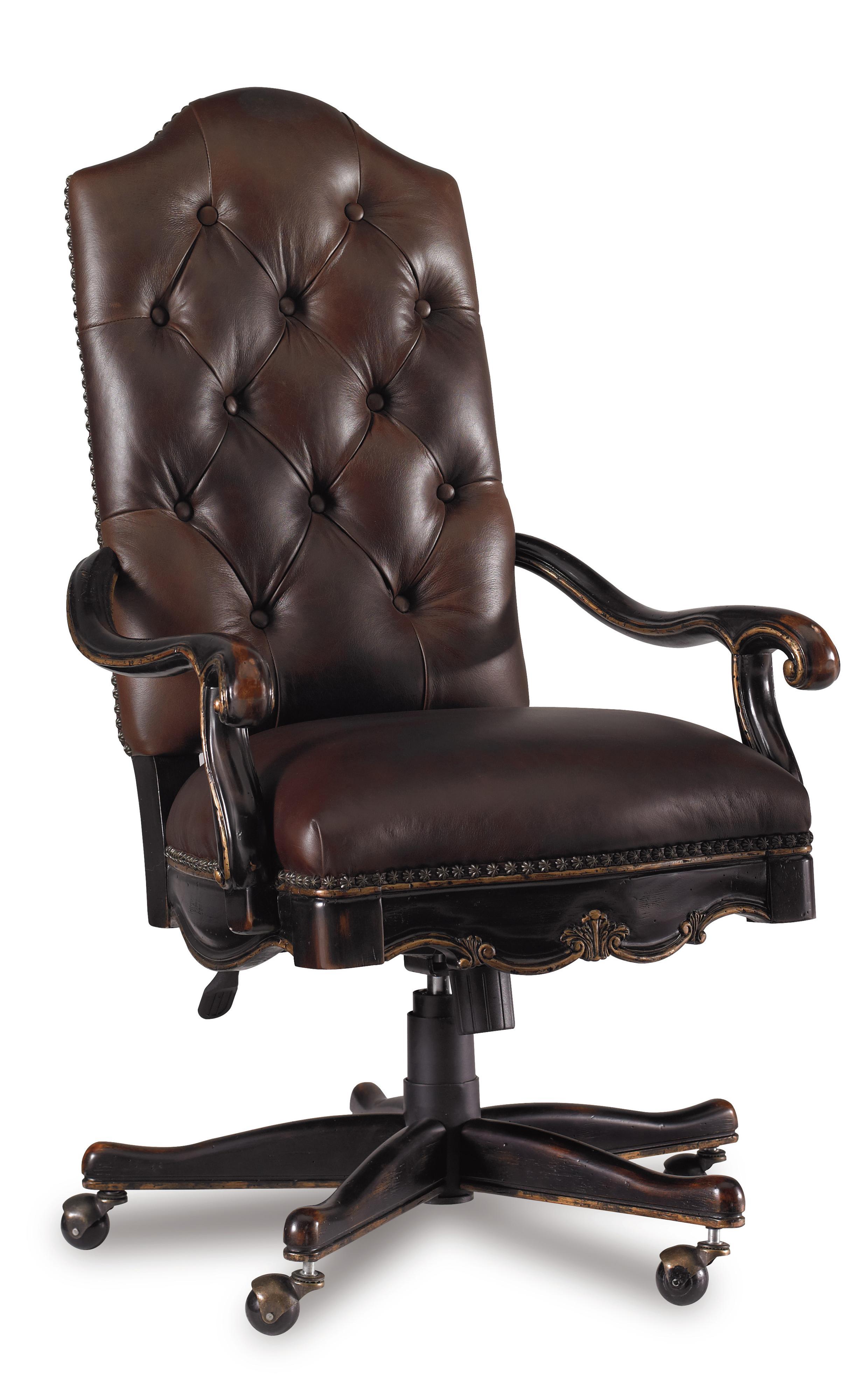 Grandover Tilt Swivel Chair by Hooker Furniture at Mueller Furniture