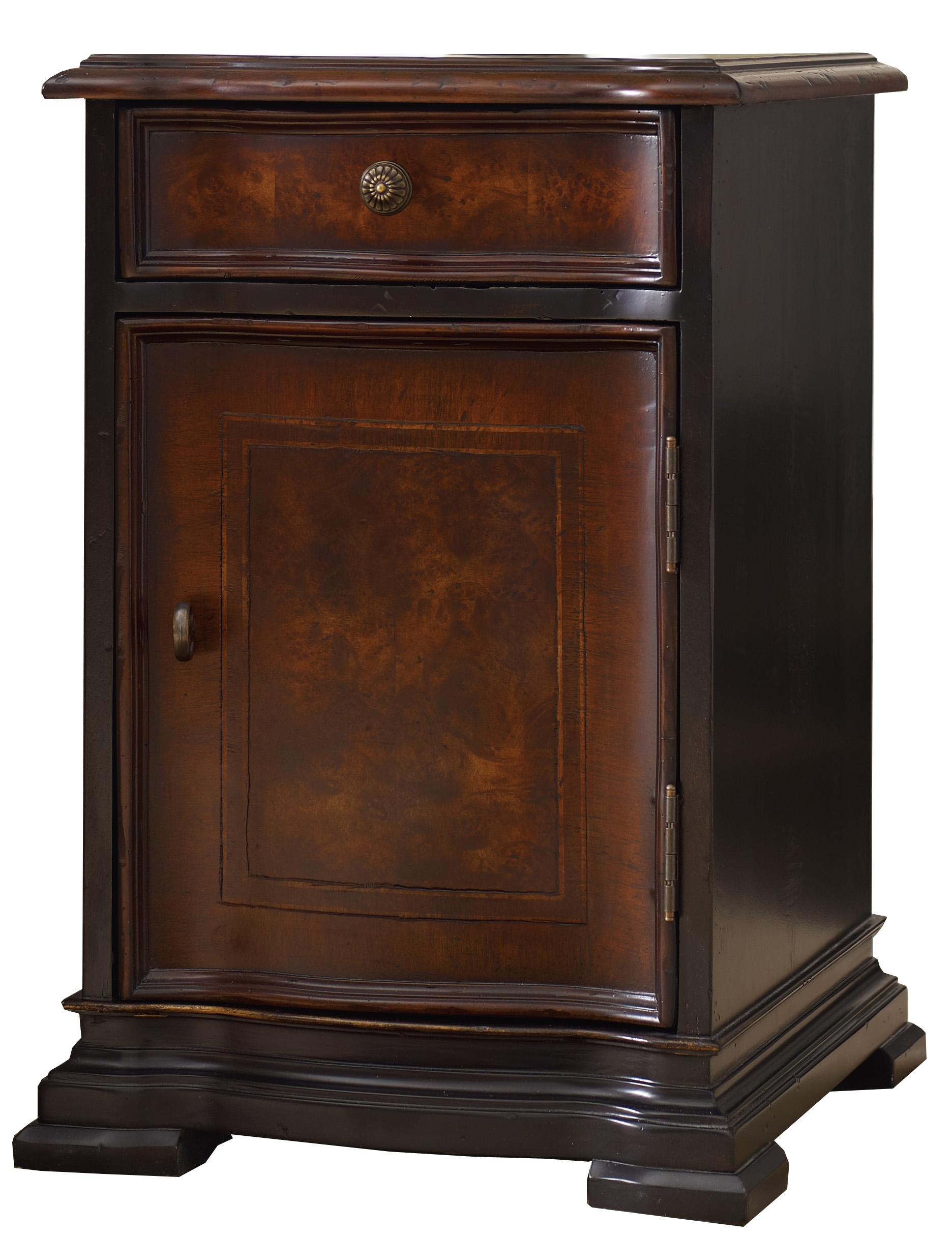 Grandover Chairside Chest by Hooker Furniture at Miller Waldrop Furniture and Decor