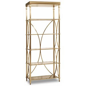 Bunching Etagere with Glass Shelves