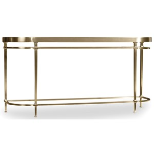 Console Table with Glass Table Top