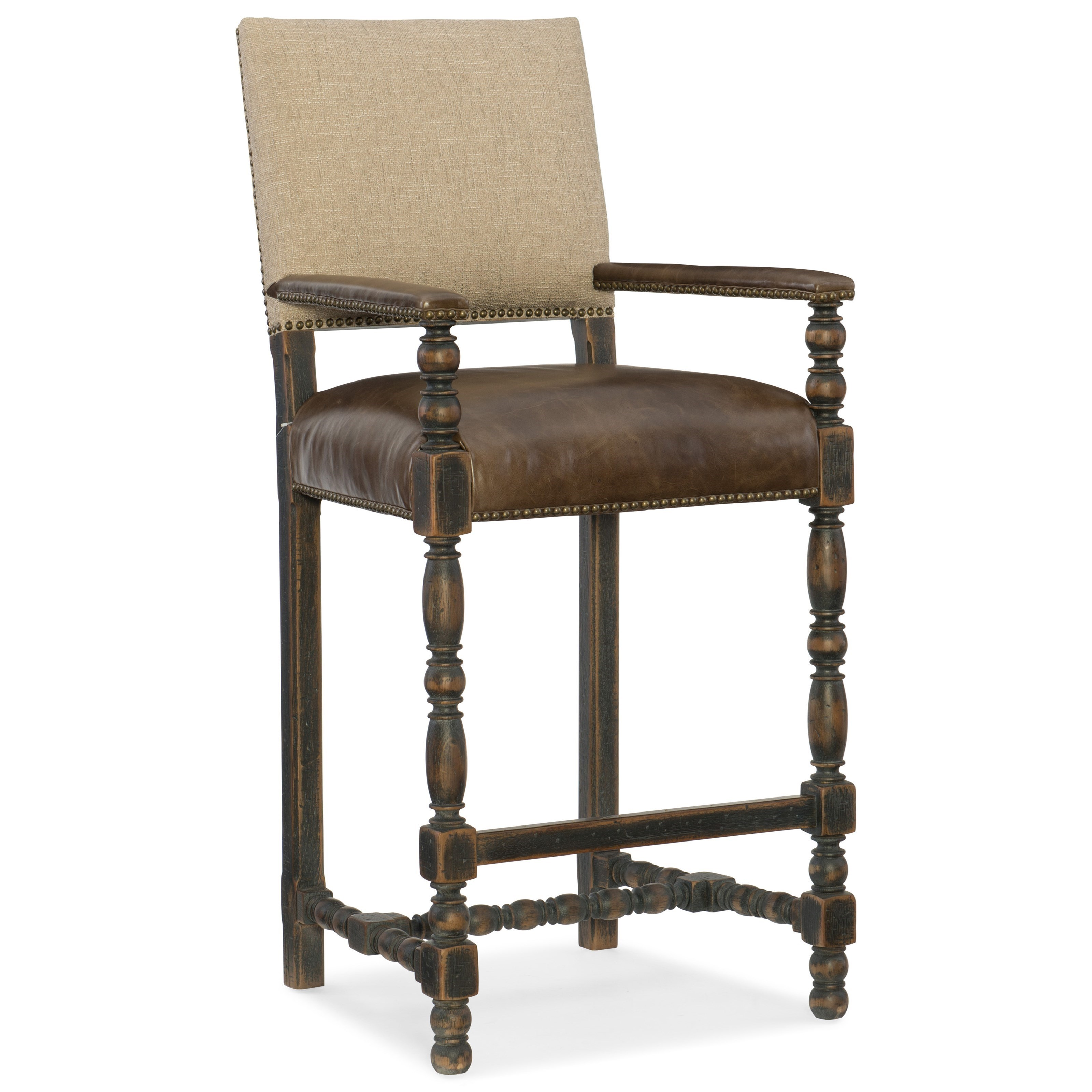 Hill Country Comfort Barstool by Hooker Furniture at Baer's Furniture