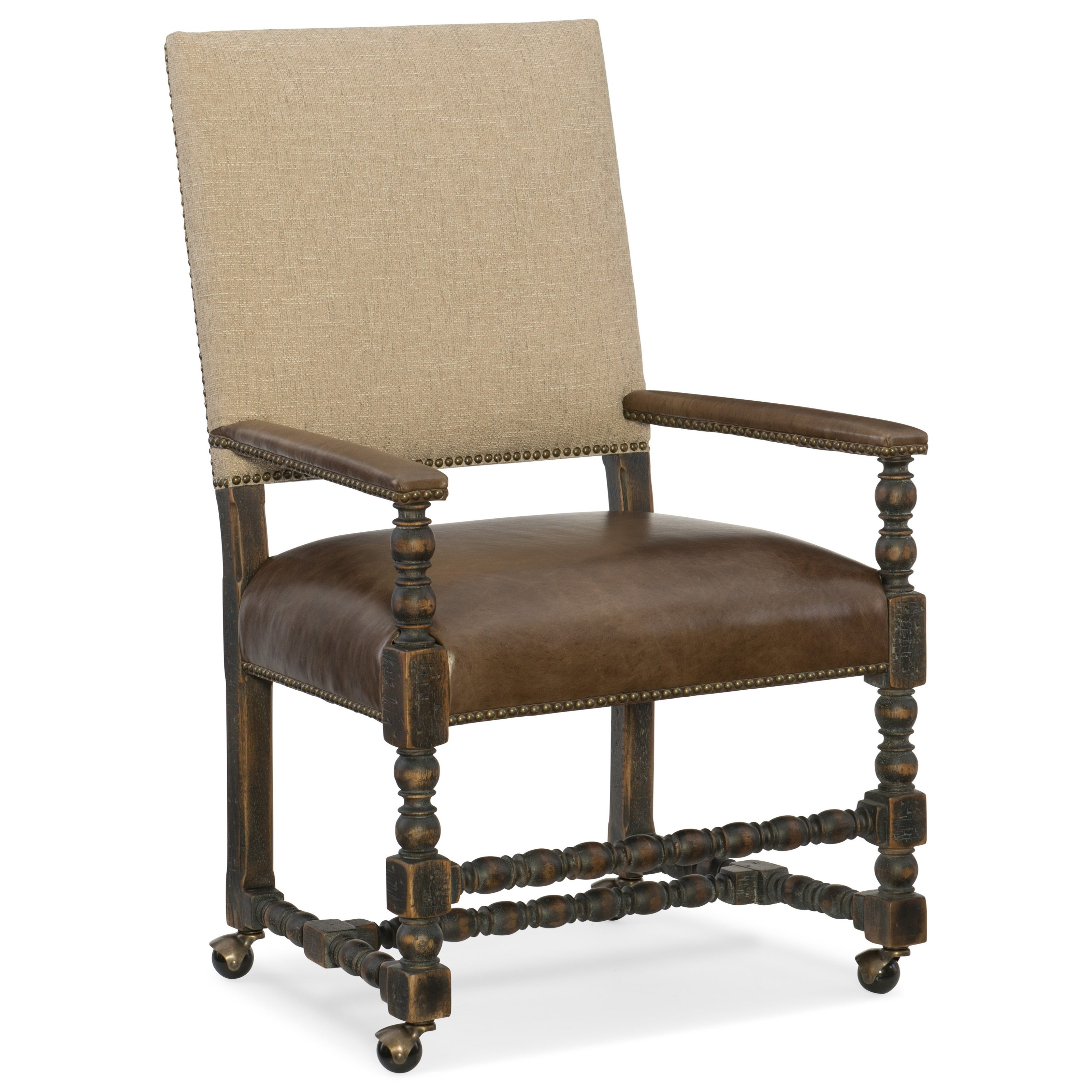 Hill Country Comfort Castered Game Chair by Hooker Furniture at Miller Waldrop Furniture and Decor