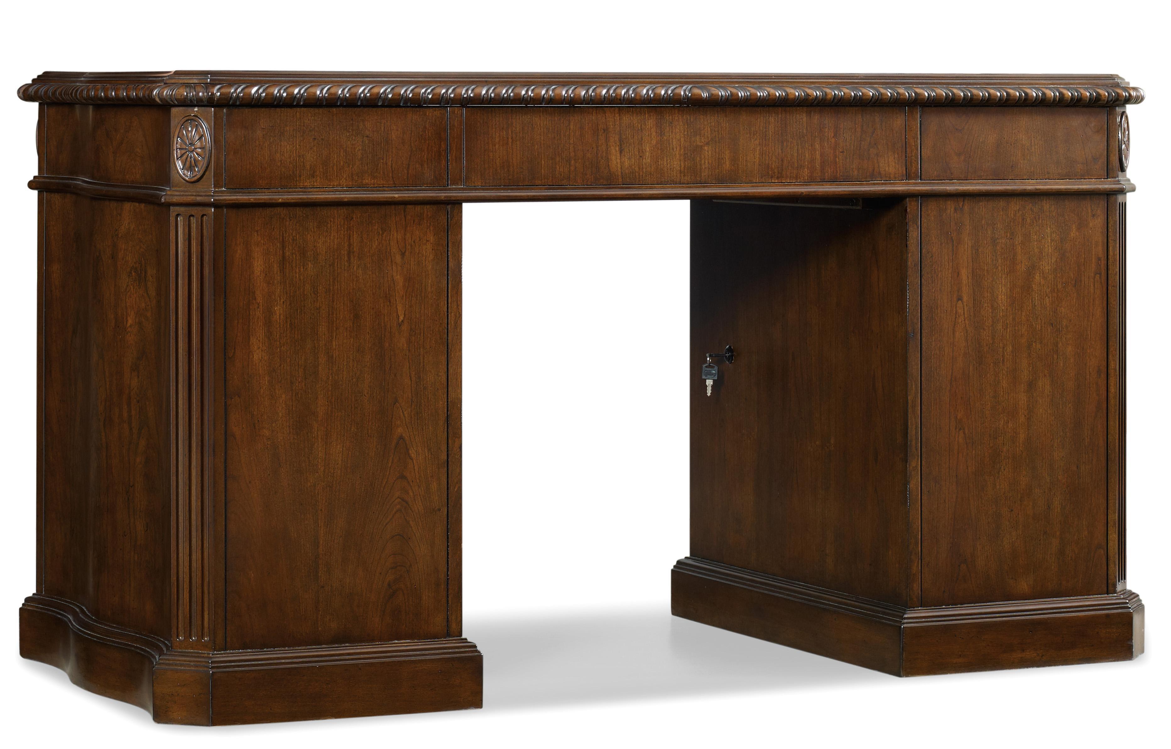 Home Office Kneehole Desk by Hooker Furniture at Baer's Furniture