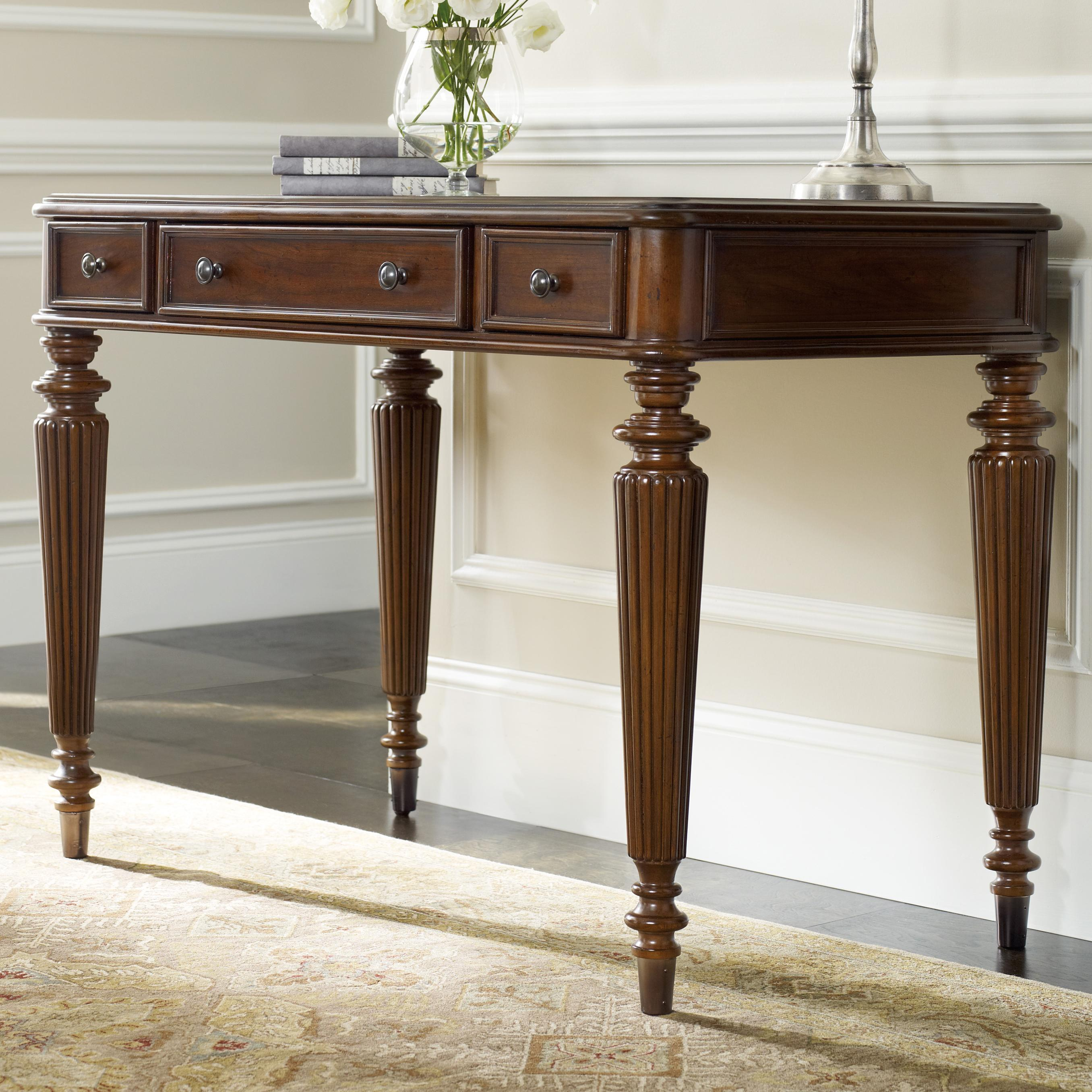 Home Office Leg Desk by Hooker Furniture at Alison Craig Home Furnishings