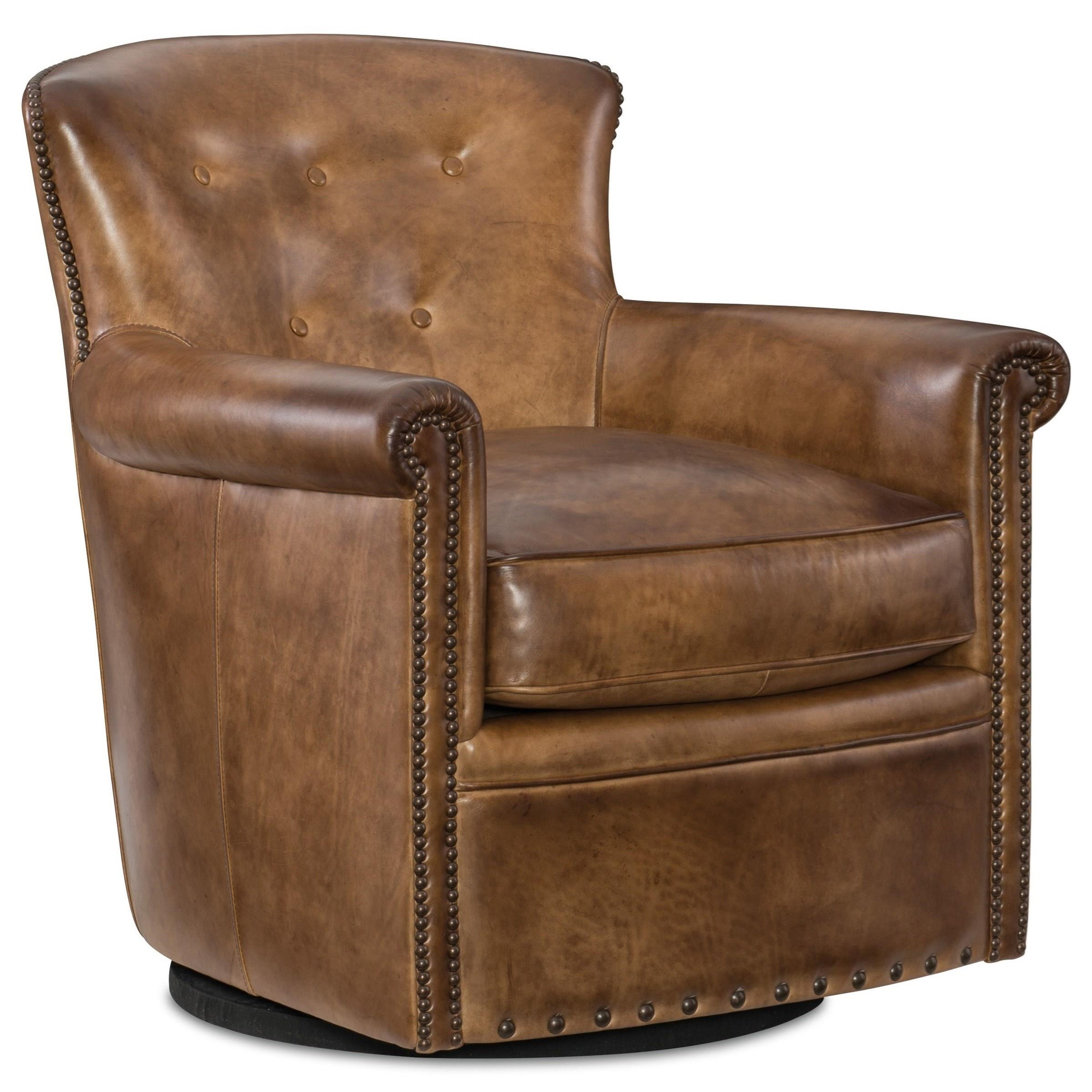 Jacob Swivel Club Chair by Hooker Furniture at Zak's Home