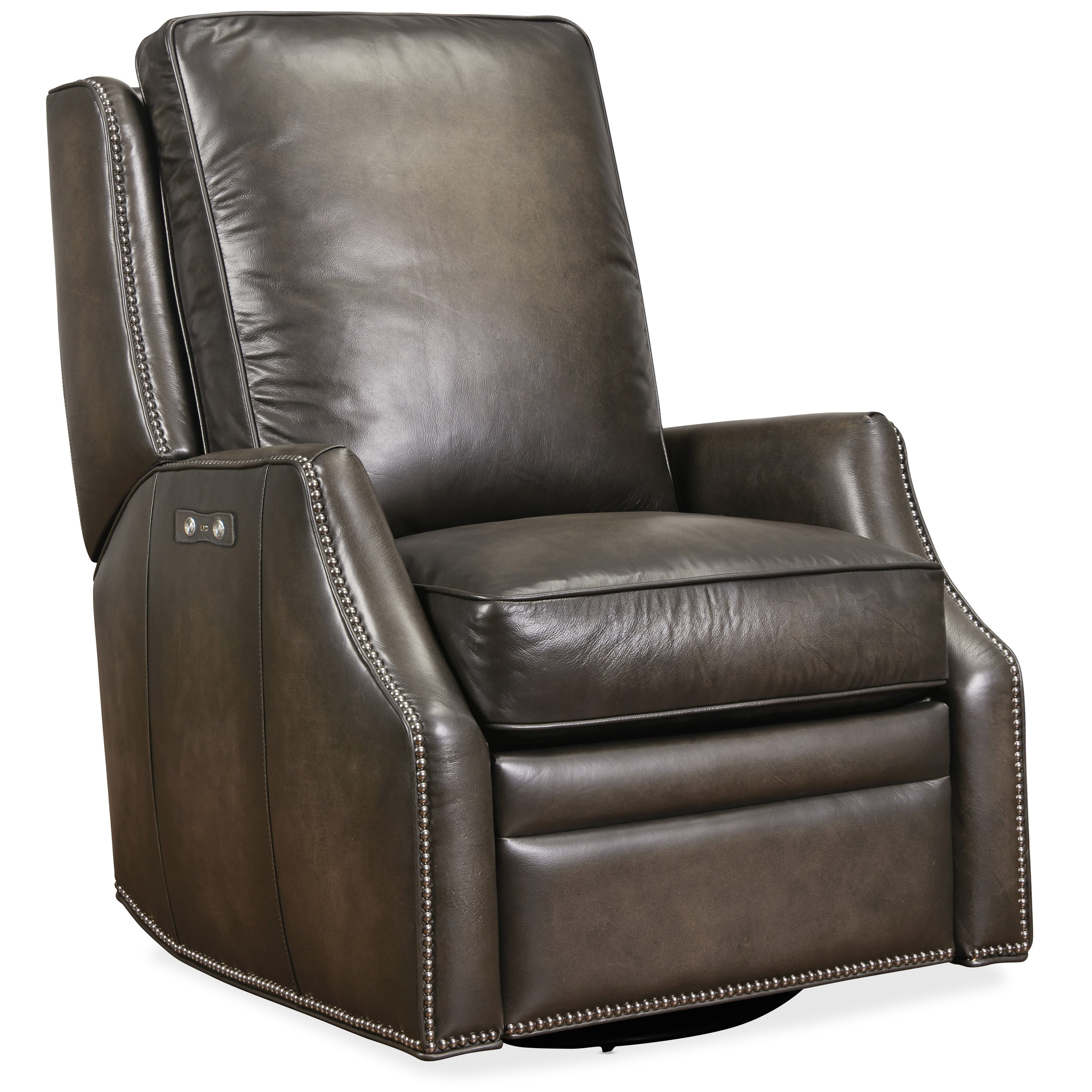 Kerley Power Swivel Glider Recliner by Hooker Furniture at Miller Waldrop Furniture and Decor