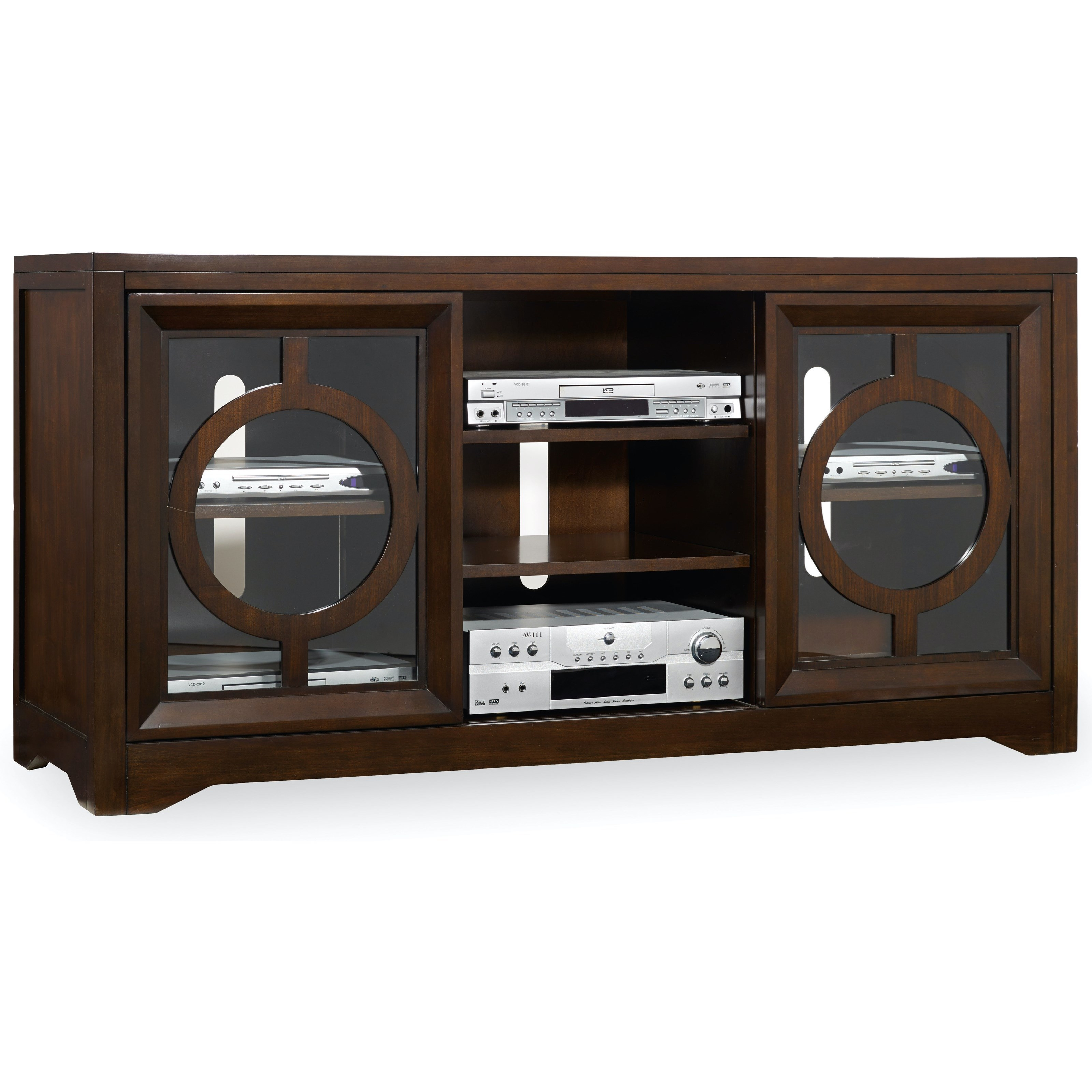 Kinsey Kinsey Entertainment Console by Hooker Furniture at Stoney Creek Furniture