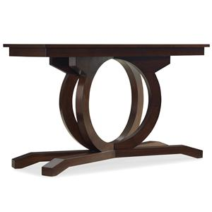 Rectangular Sofa Table with Curved Pedestal Base