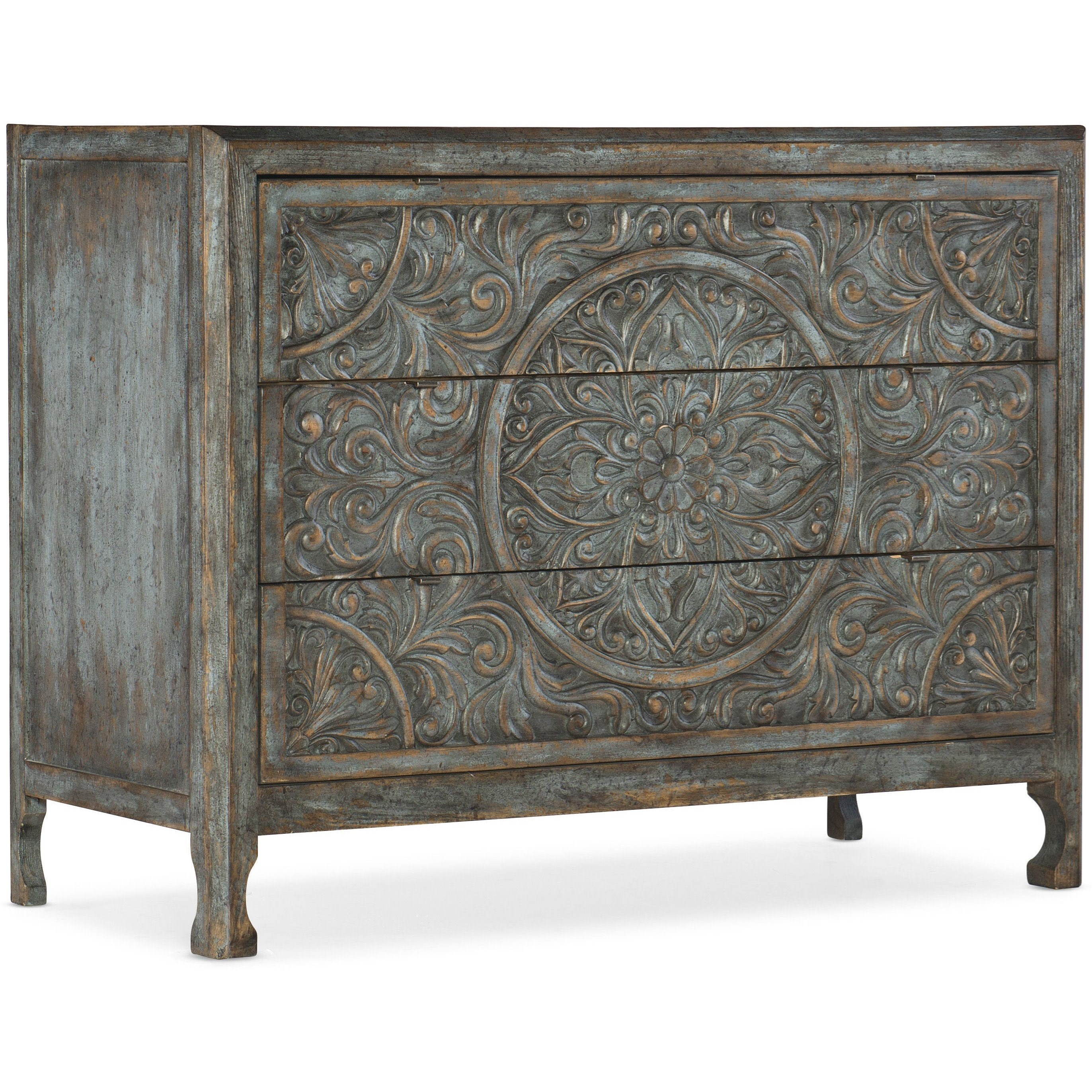 La Grange Lockhart Three-Drawer Accent Chest by Hooker Furniture at Baer's Furniture