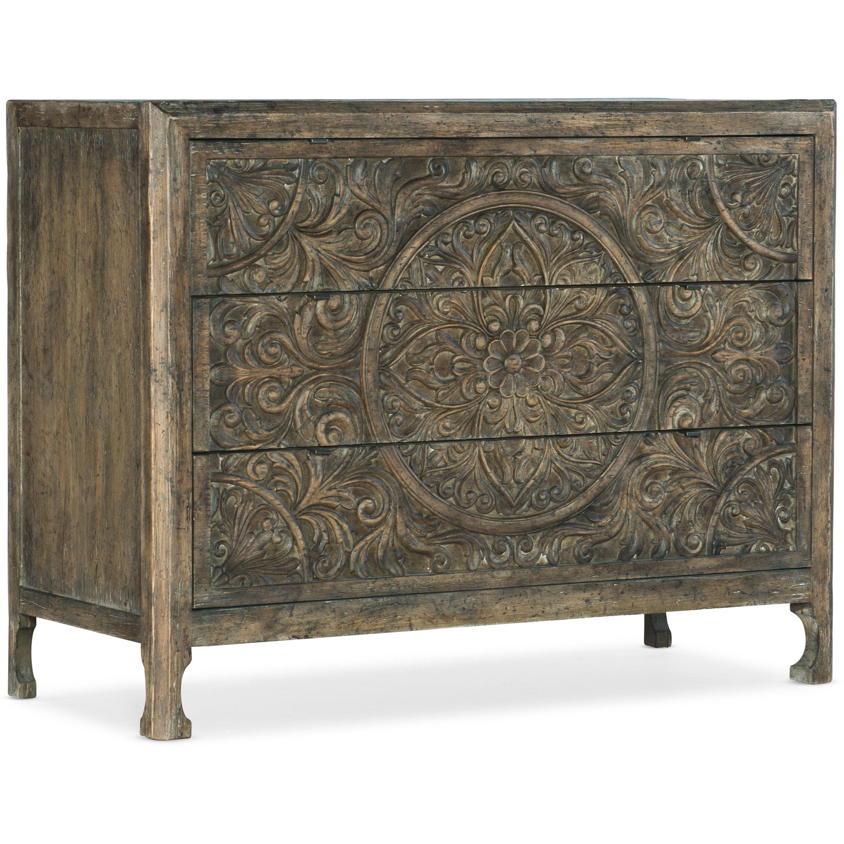 La Grange Lockhart Three-Drawer Accent Chest by Hooker Furniture at Miller Waldrop Furniture and Decor