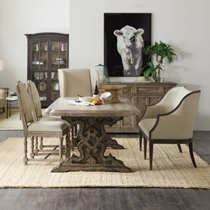 5-Piece Table and Chair Set with Bench