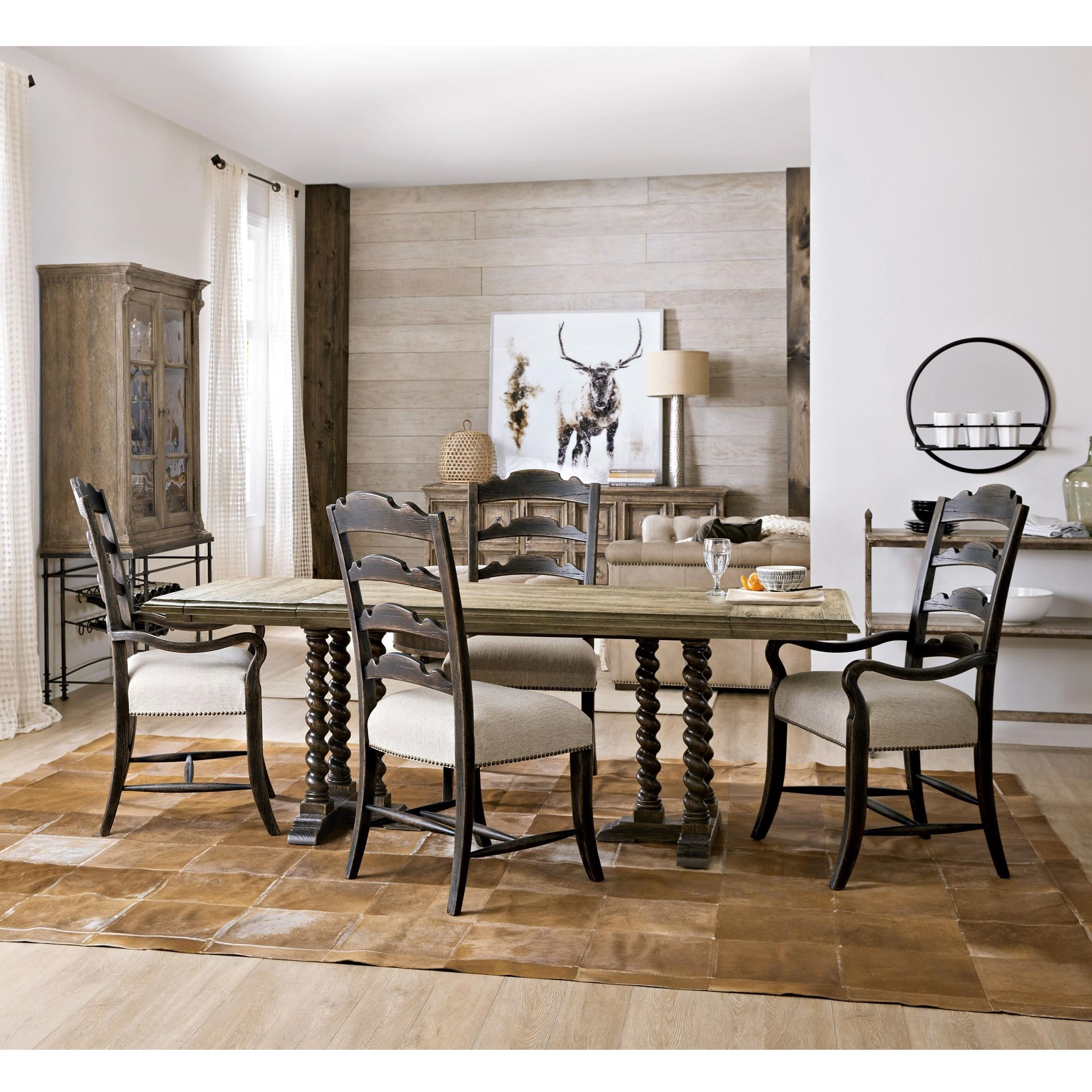 La Grange 5-Piece Table and Chair Set by Hooker Furniture at Miller Waldrop Furniture and Decor