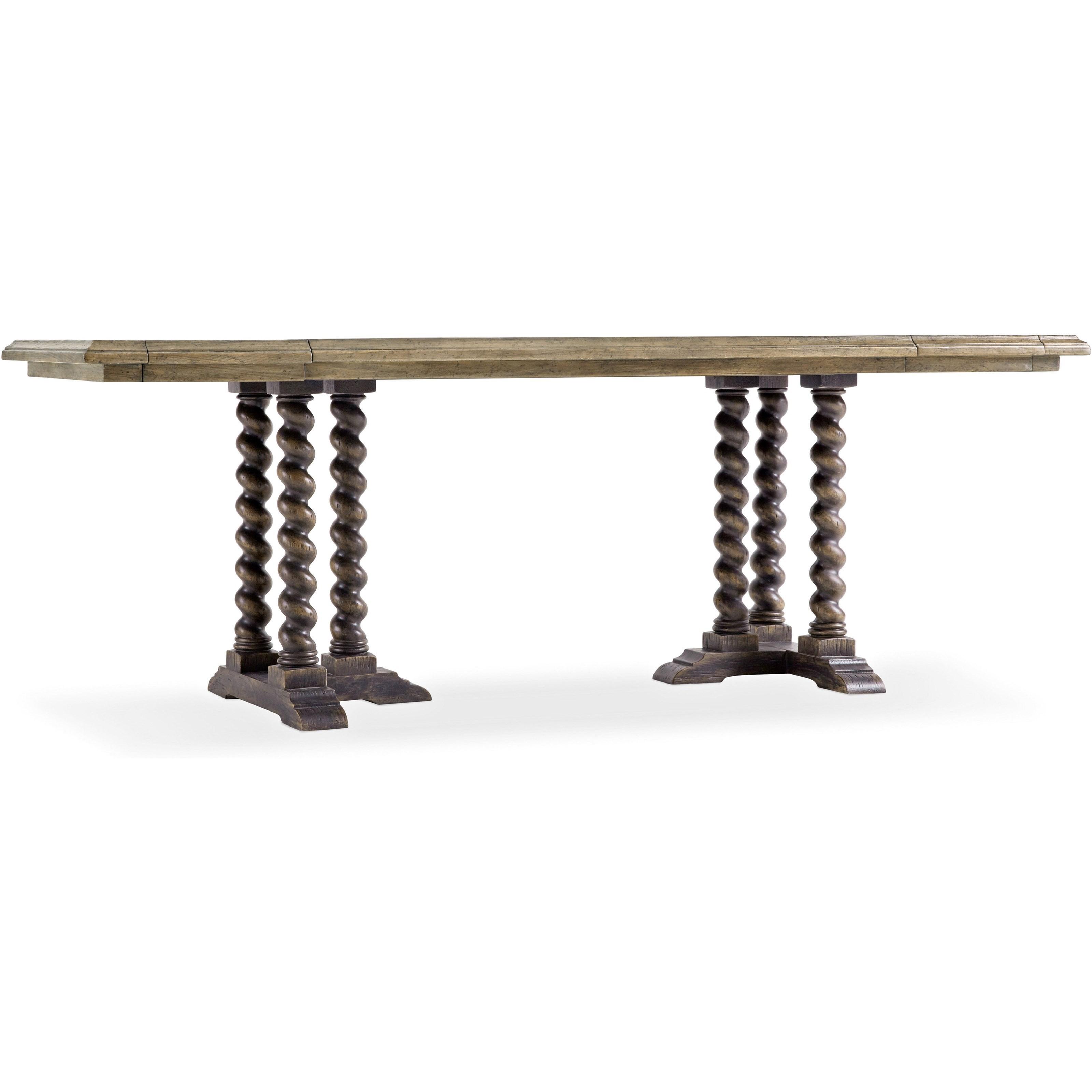 """La Grange 60"""" Friendship Table w/ Leaves by Hooker Furniture at Baer's Furniture"""