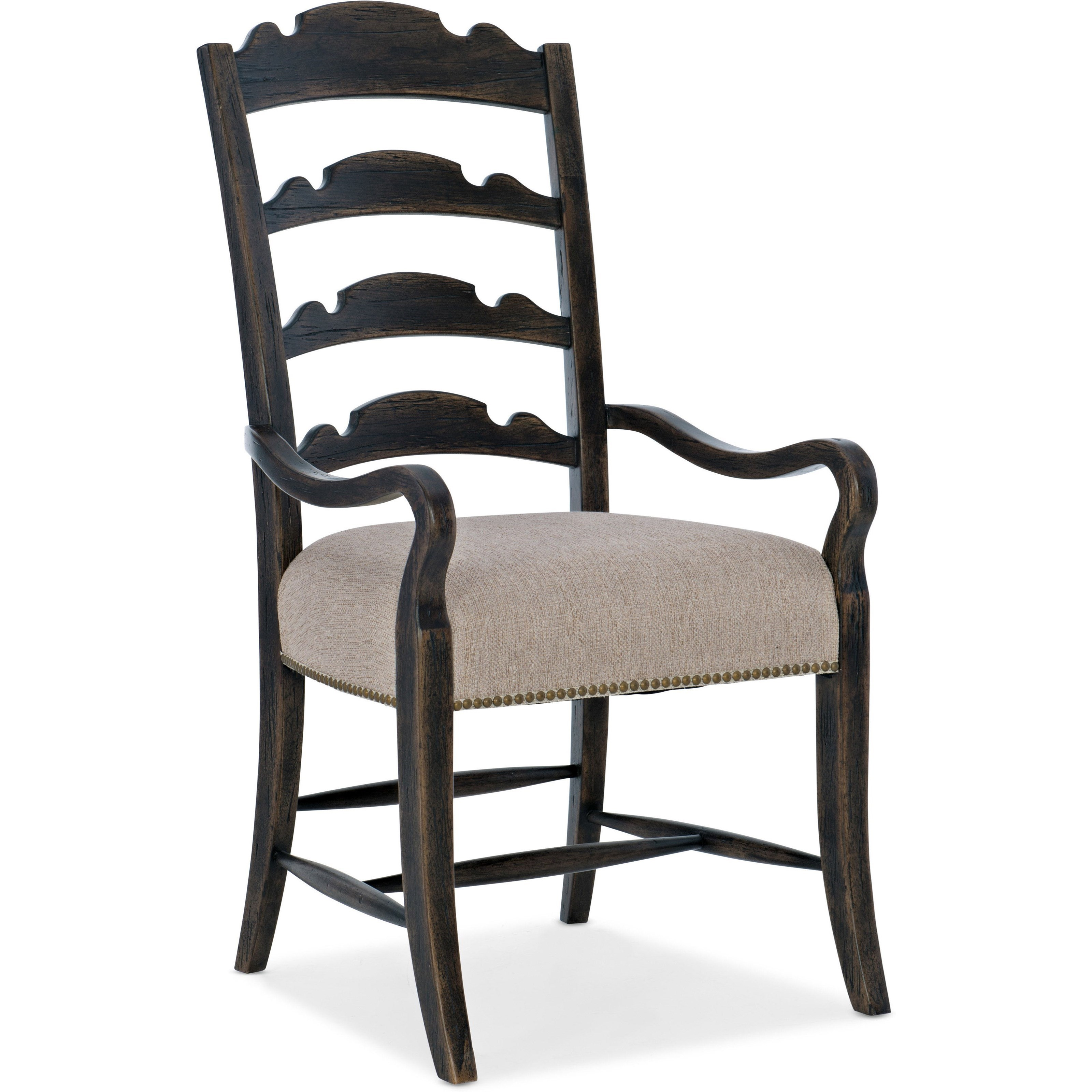 La Grange Twin Sisters Ladderback Arm Chair by Hooker Furniture at Miller Waldrop Furniture and Decor