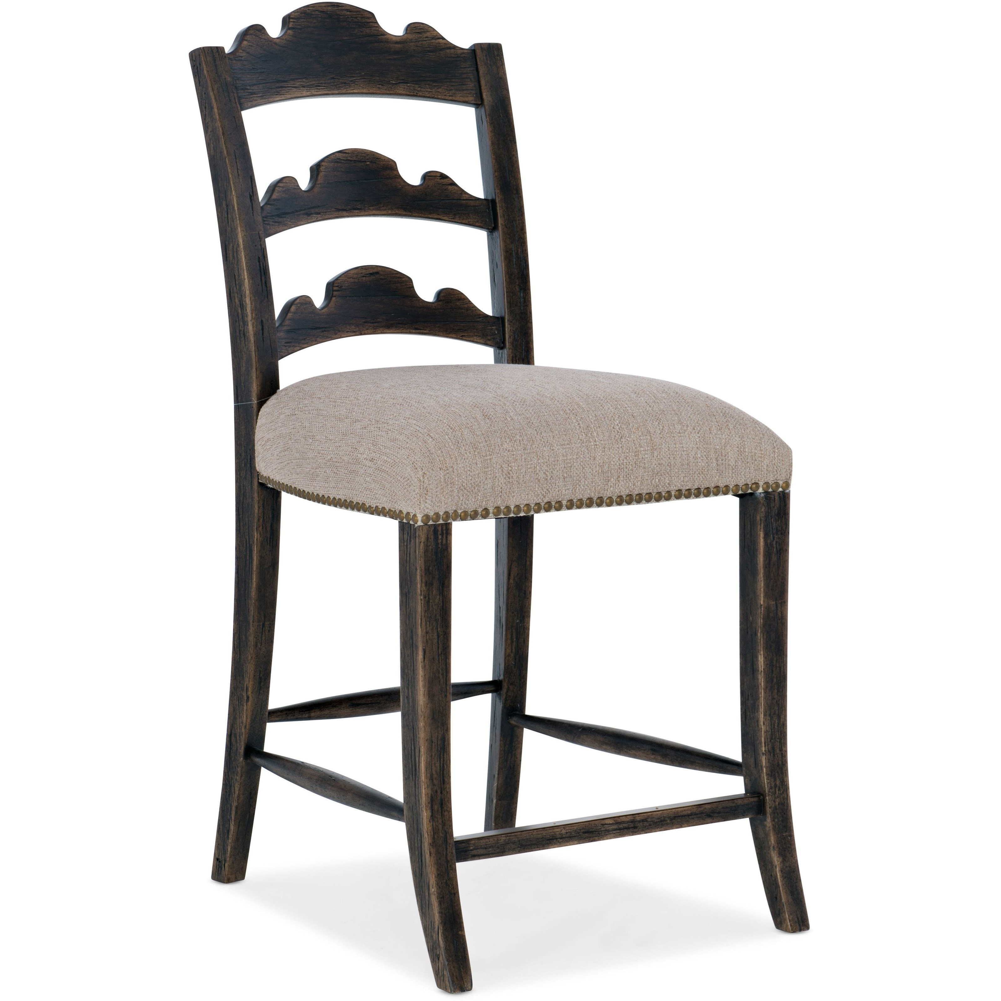 La Grange Twin Sisters Ladderback Counter Stool by Hooker Furniture at Mueller Furniture