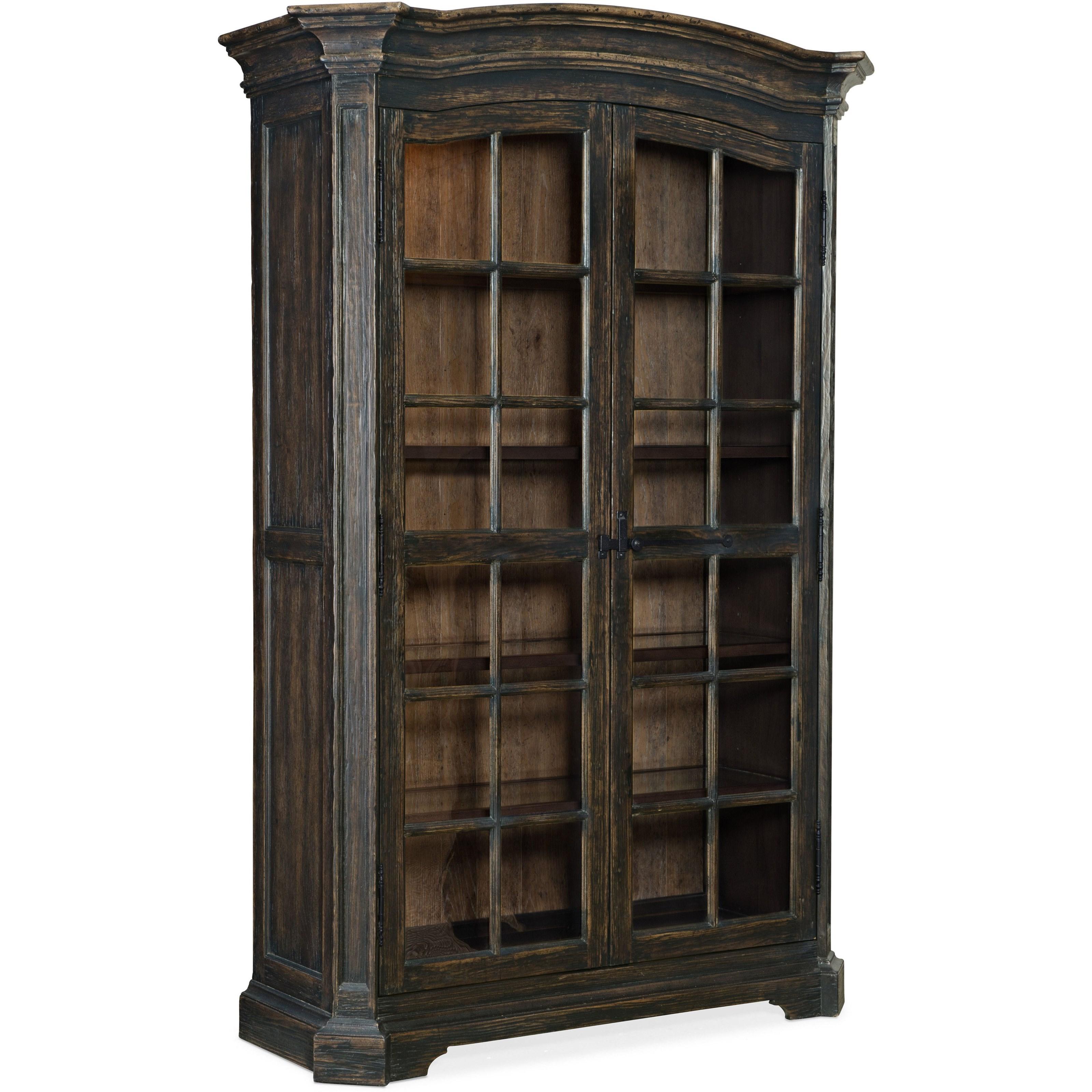 La Grange Mullins Prairie Display Cabinet by Hooker Furniture at Alison Craig Home Furnishings
